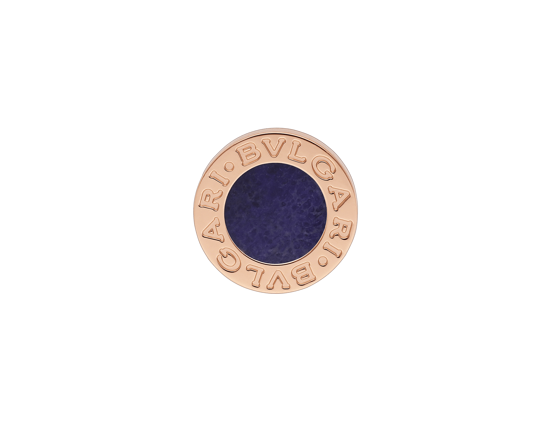 """BVLGARI BVLGARI 18 kt rose gold single earring set with sugilite element. Kindly note that this product is sold as a single piece: if you wish to purchase a pair you should select quantity """"2"""" 356428 image 1"""