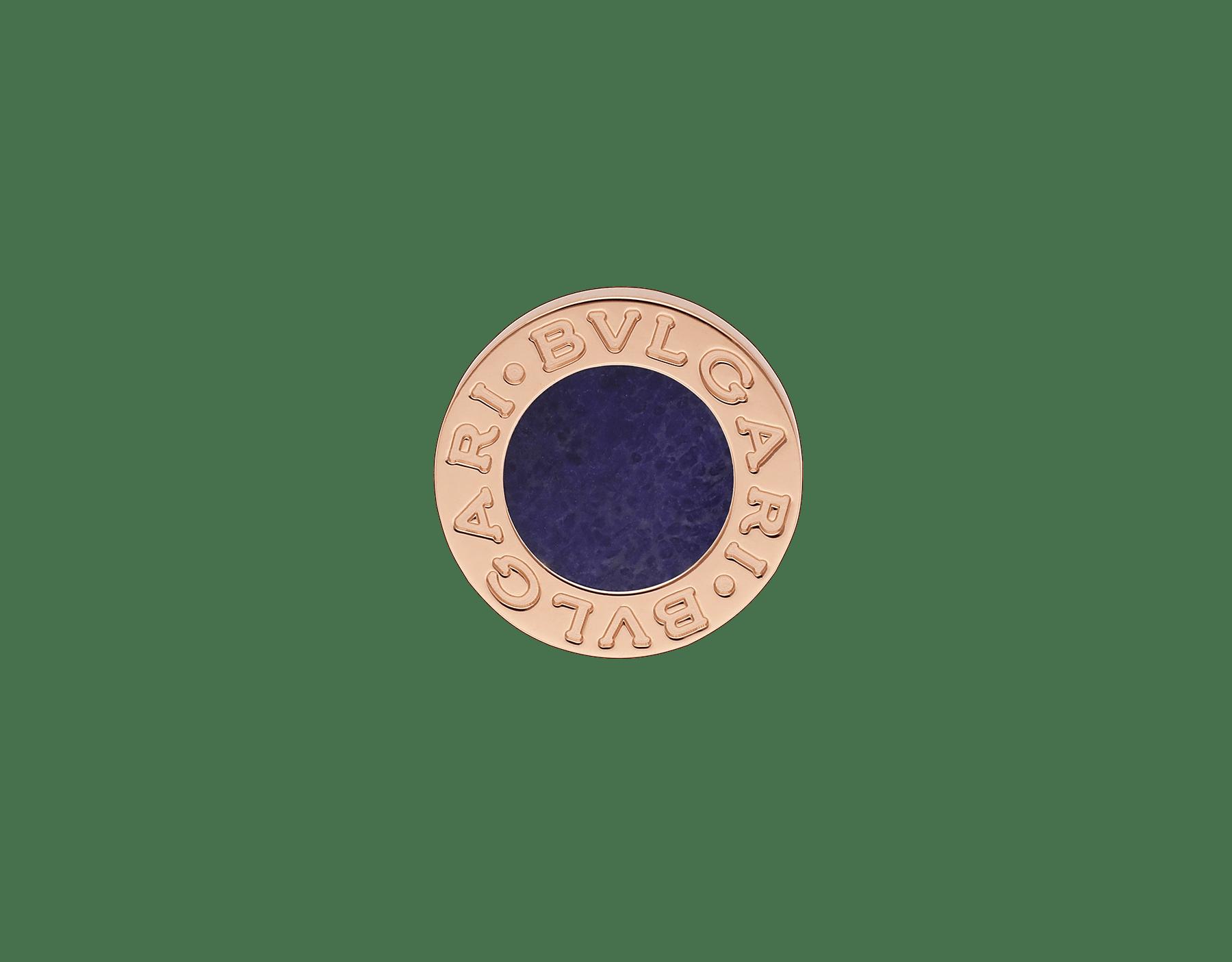 Непарная серьга BVLGARI BVLGARI, розовое золото 18 карат, элемент из сугилита 356428 image 1
