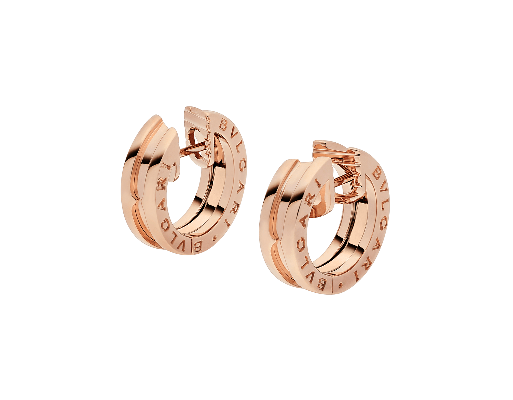 B.zero1 small earrings in 18 kt rose gold. 345506 image 2
