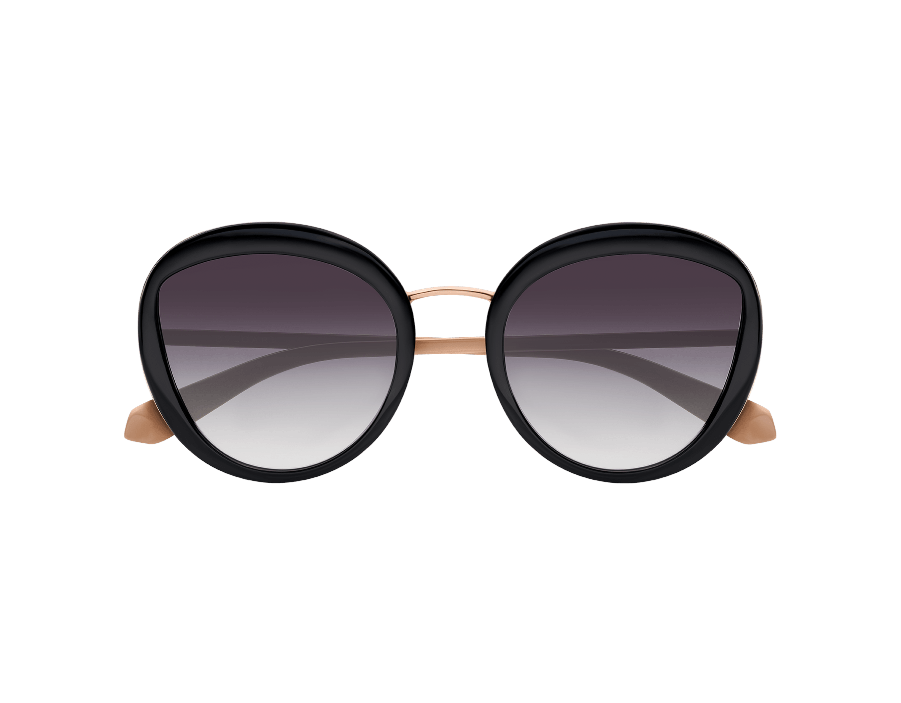 Serpenti round acetate frame Sunglasses with eye-shaped lenses. 903310 image 2