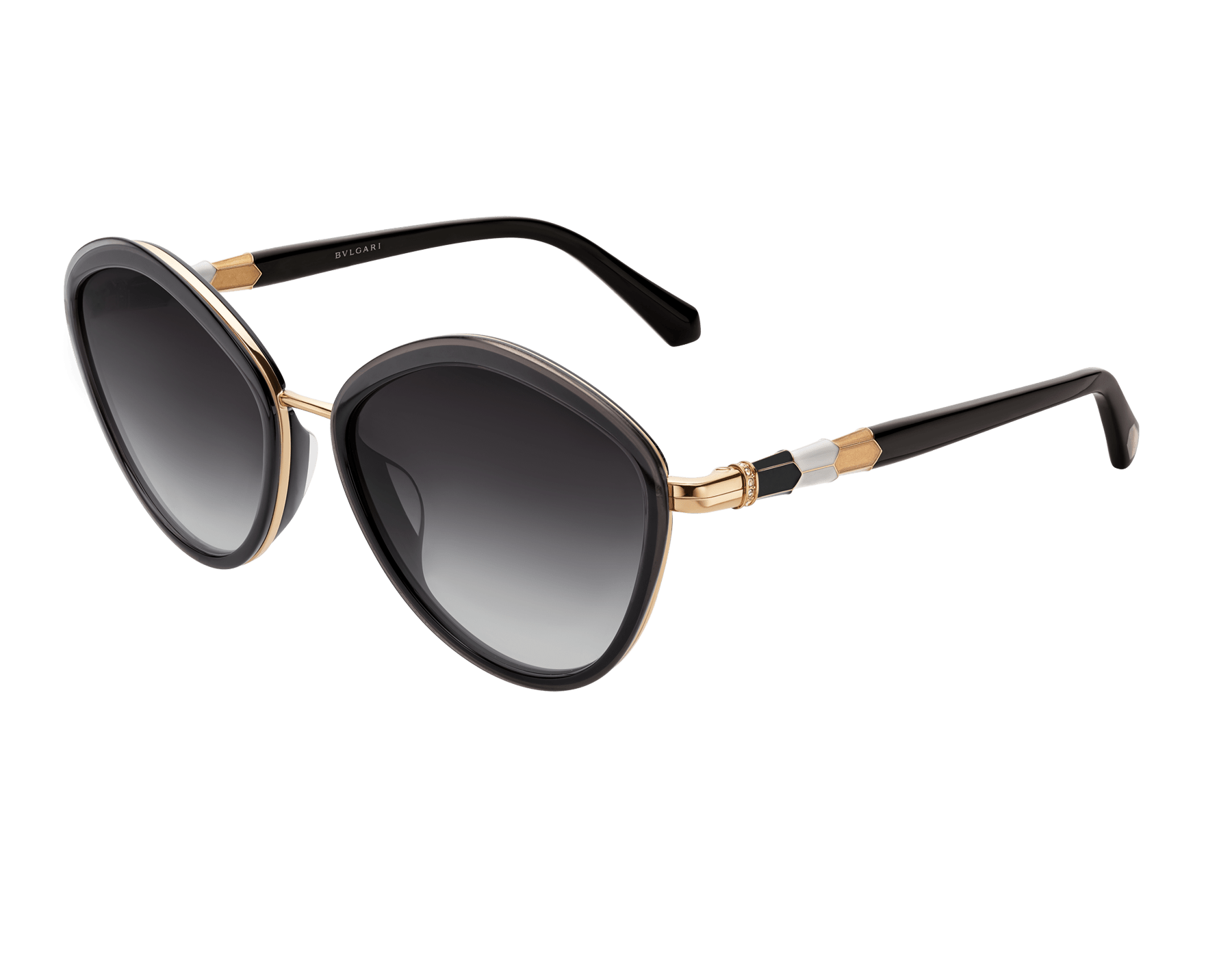 Bulgari Serpenti rounded metal sunglasses. 903988 image 1