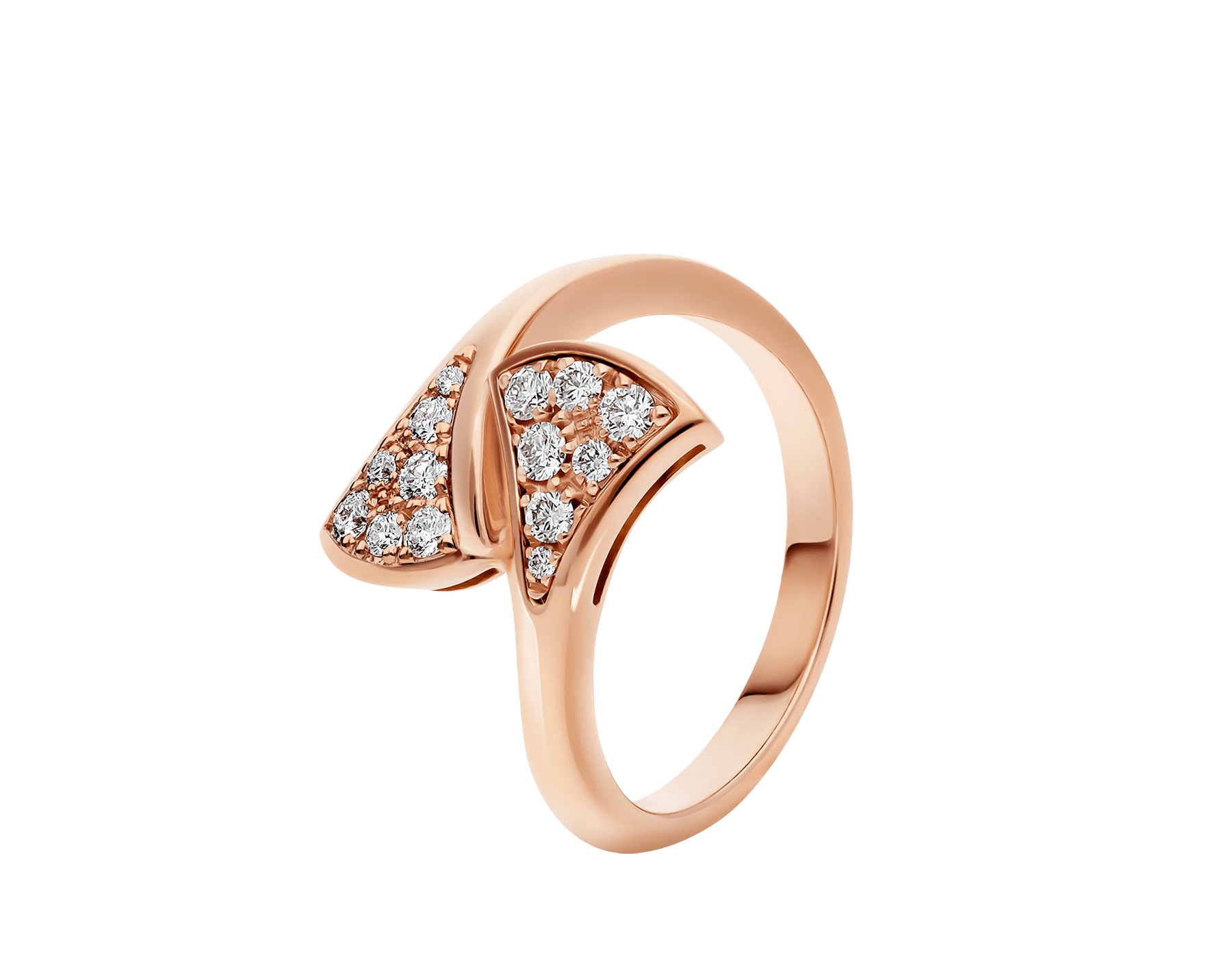Anillo DIVAS' DREAM en oro rosa de 18 qt con pavé de diamantes (0,20 ct). AN858647 image 1