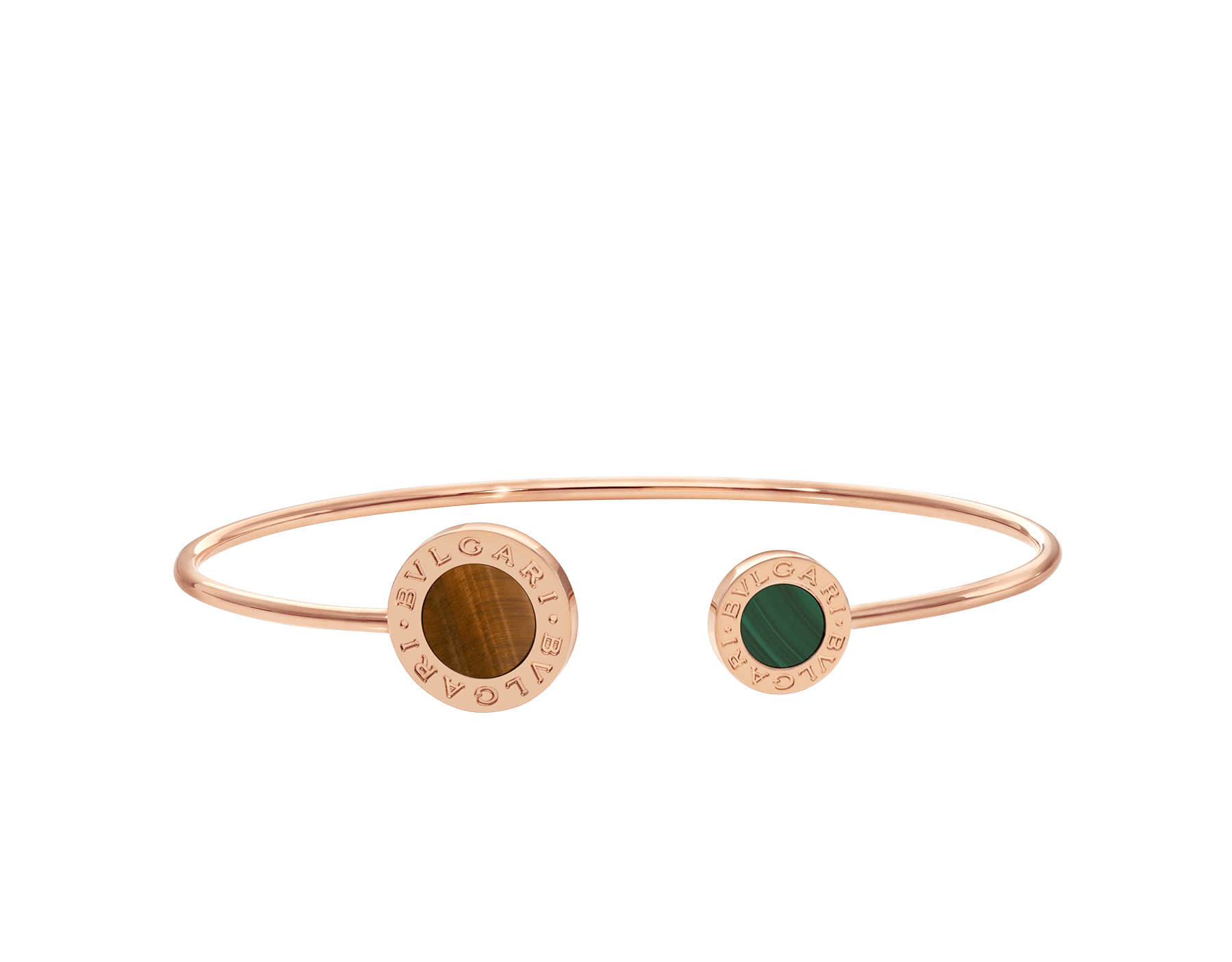 BVLGARI BVLGARI 18 kt rose gold bracelet set with tiger's eye an malachite elements BR858695 image 2