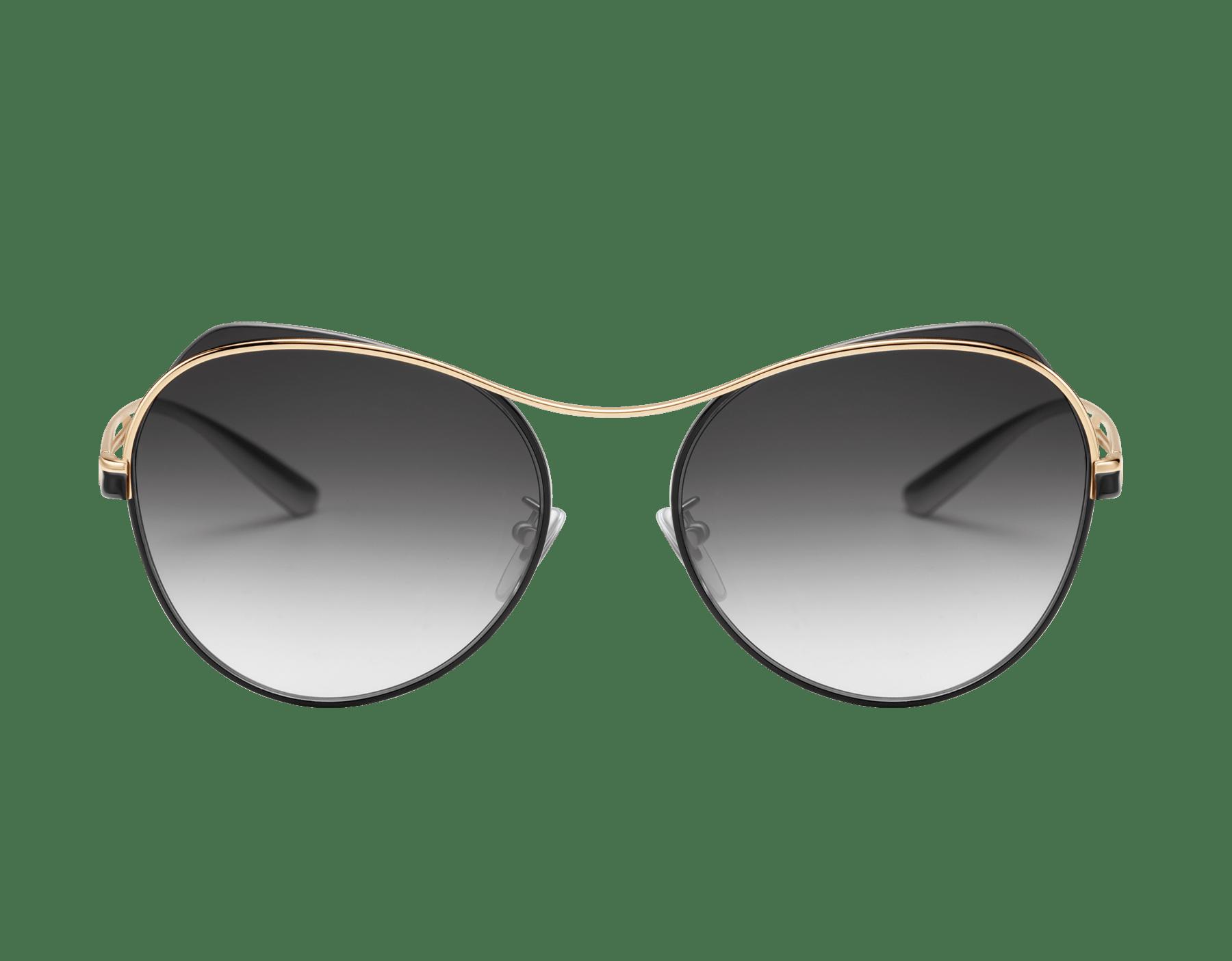 Bulgari B.zero1 B.super occhiali da sole pilot in metallo dalla forma arrotondata. 903723 image 2