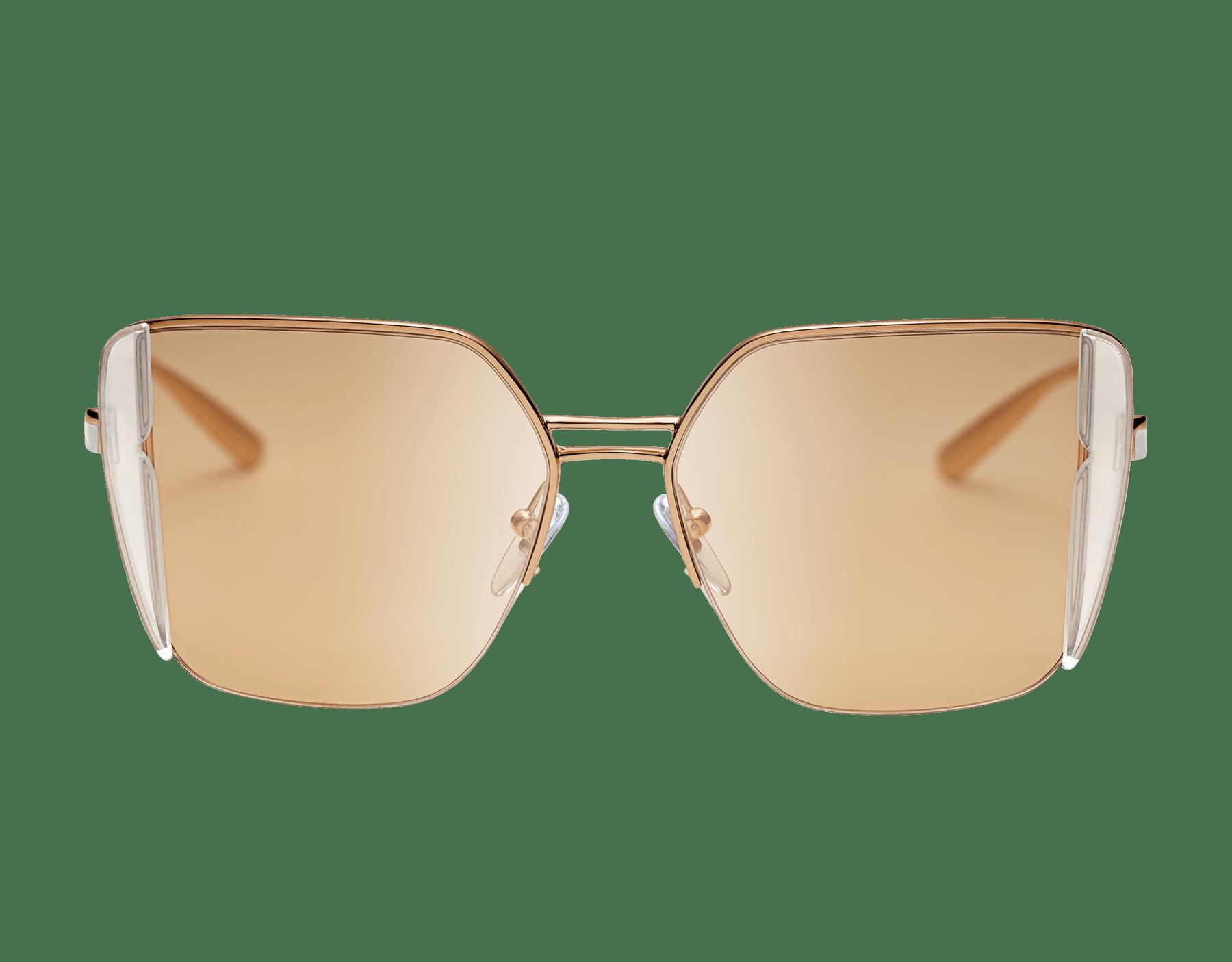 ブルガリ ビー・ゼロワン 「ビー・ピュアブライト」 スクエアシェイプのメタル製サングラス。 903948 image 2