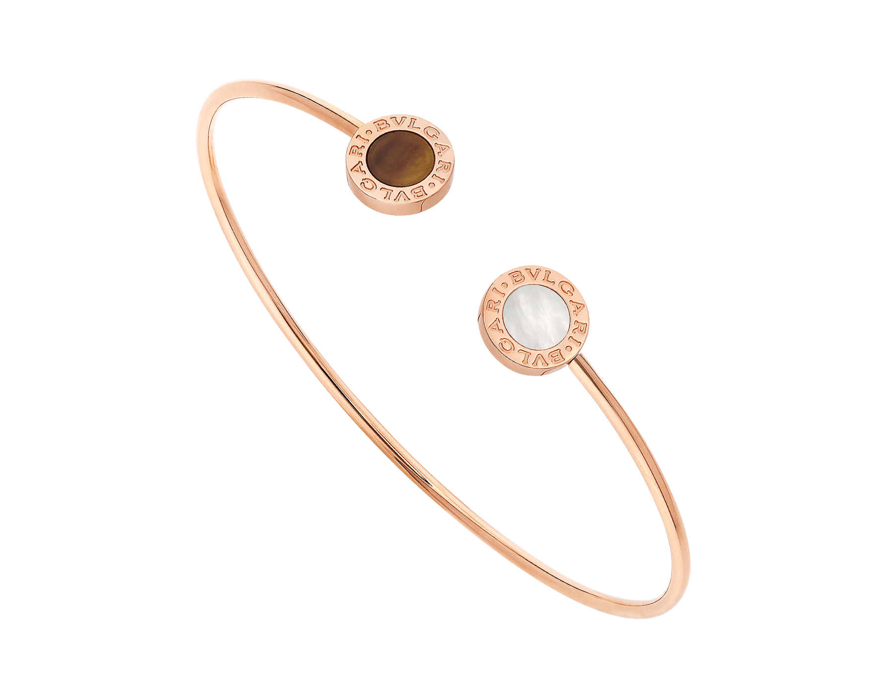 BVLGARI BVLGARI 18 kt rose gold bracelet set with mother-of-pearl and tiger's eye elements BR858623 image 1