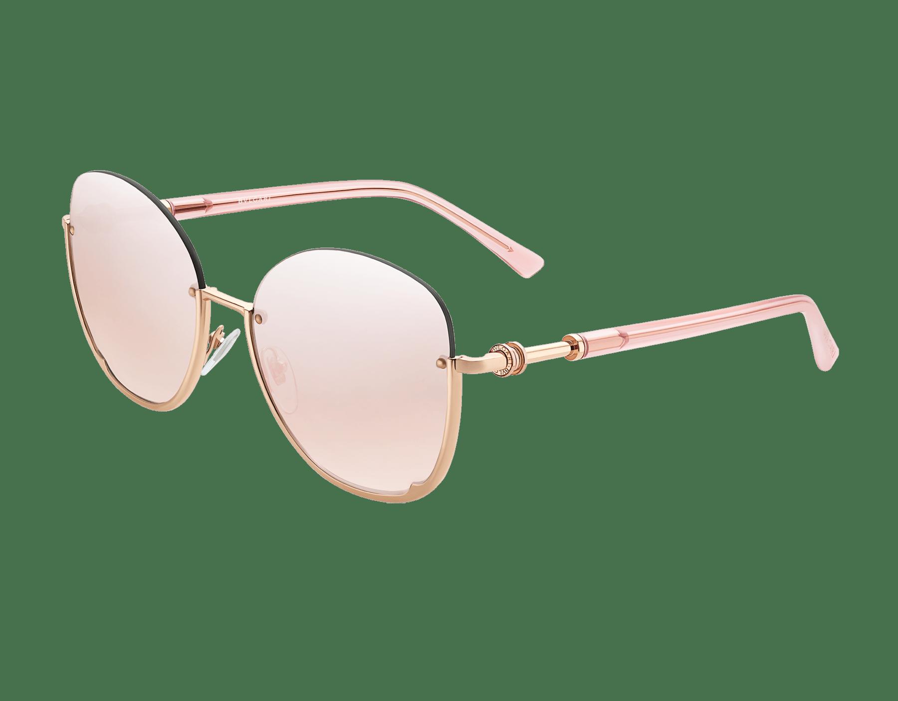 Runde Bvlgari B.zero1 Halbrand-Sonnenbrille aus Metall. 903821 image 1