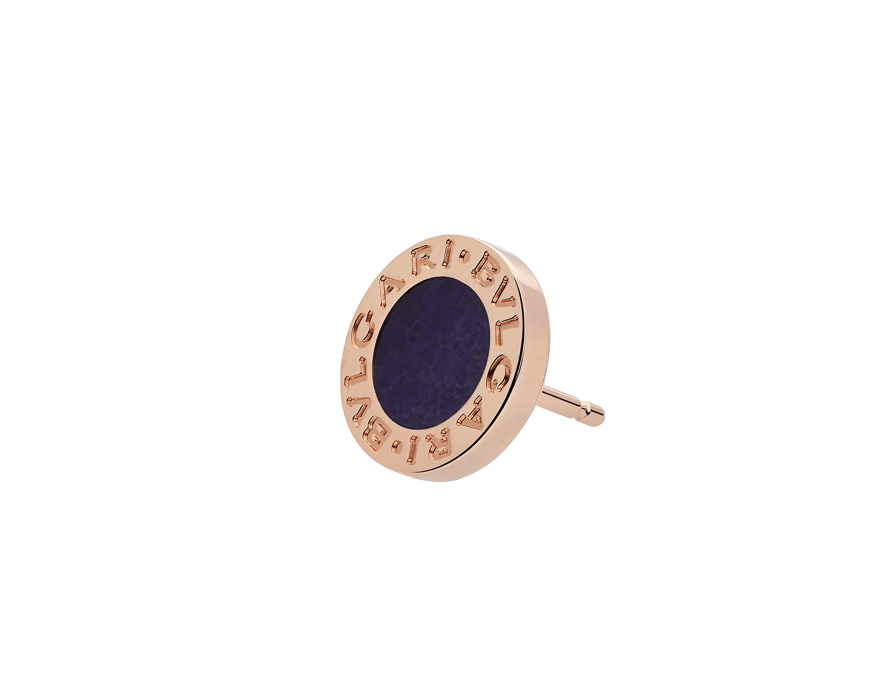 """BVLGARI BVLGARI 18 kt rose gold single earring set with sugilite element. Kindly note that this product is sold as a single piece: if you wish to purchase a pair you should select quantity """"2"""" 356428 image 2"""