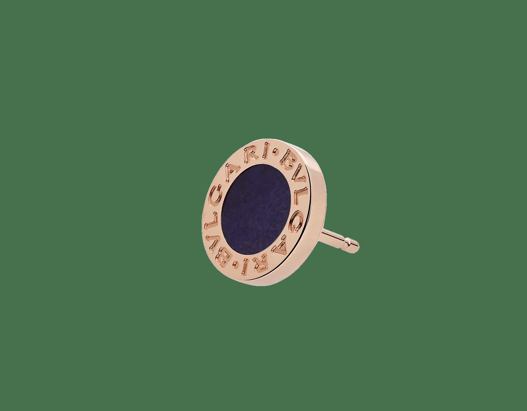 Непарная серьга BVLGARI BVLGARI, розовое золото 18 карат, элемент из сугилита 356428 image 2