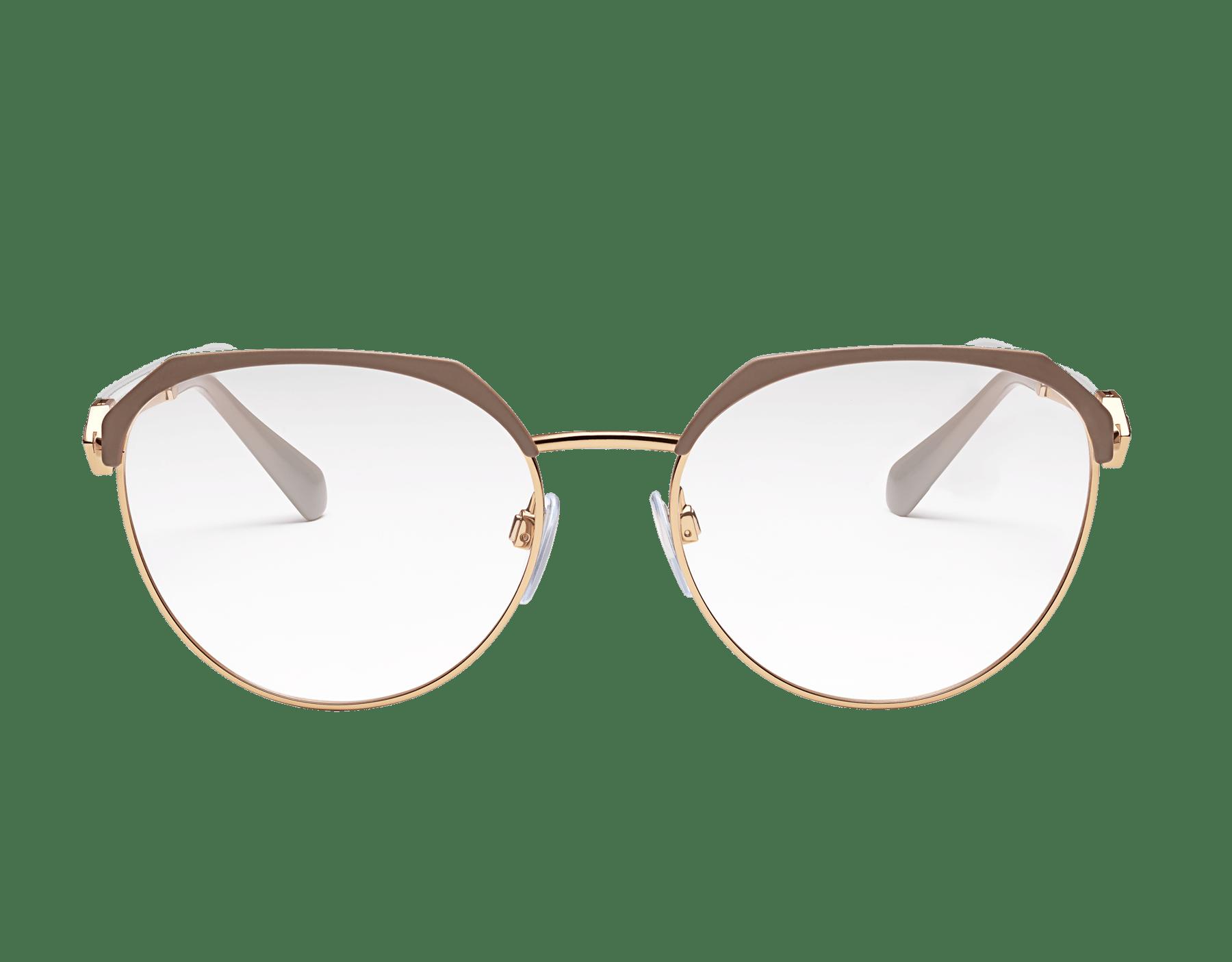 Eckige Bvlgari Serpenti Korrekturbrille aus Metall mit durchbrochener Serpenti Metallverzierung und Kristallen. 903944 image 2
