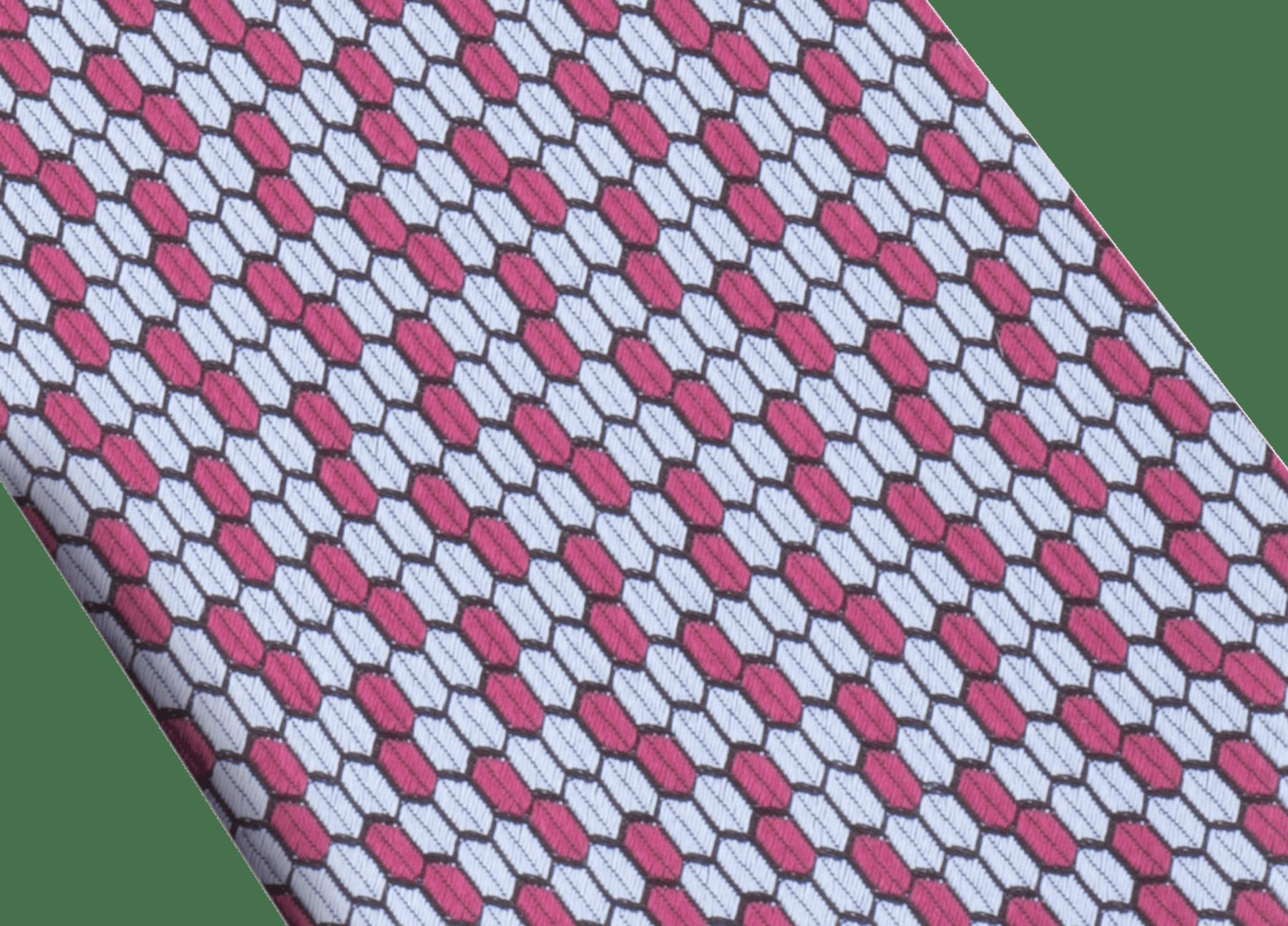 ネイビーのダブル マルチスケール ネクタイ。上質なジャカードシルク製。 DoubleMultiScalesa image 2