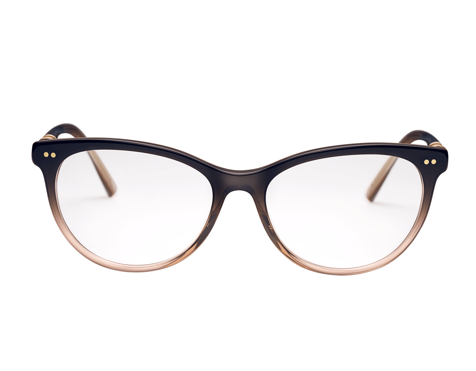 B.zero1 rounded cat-eye acetate optical glasses with metal décor 903809 image 2