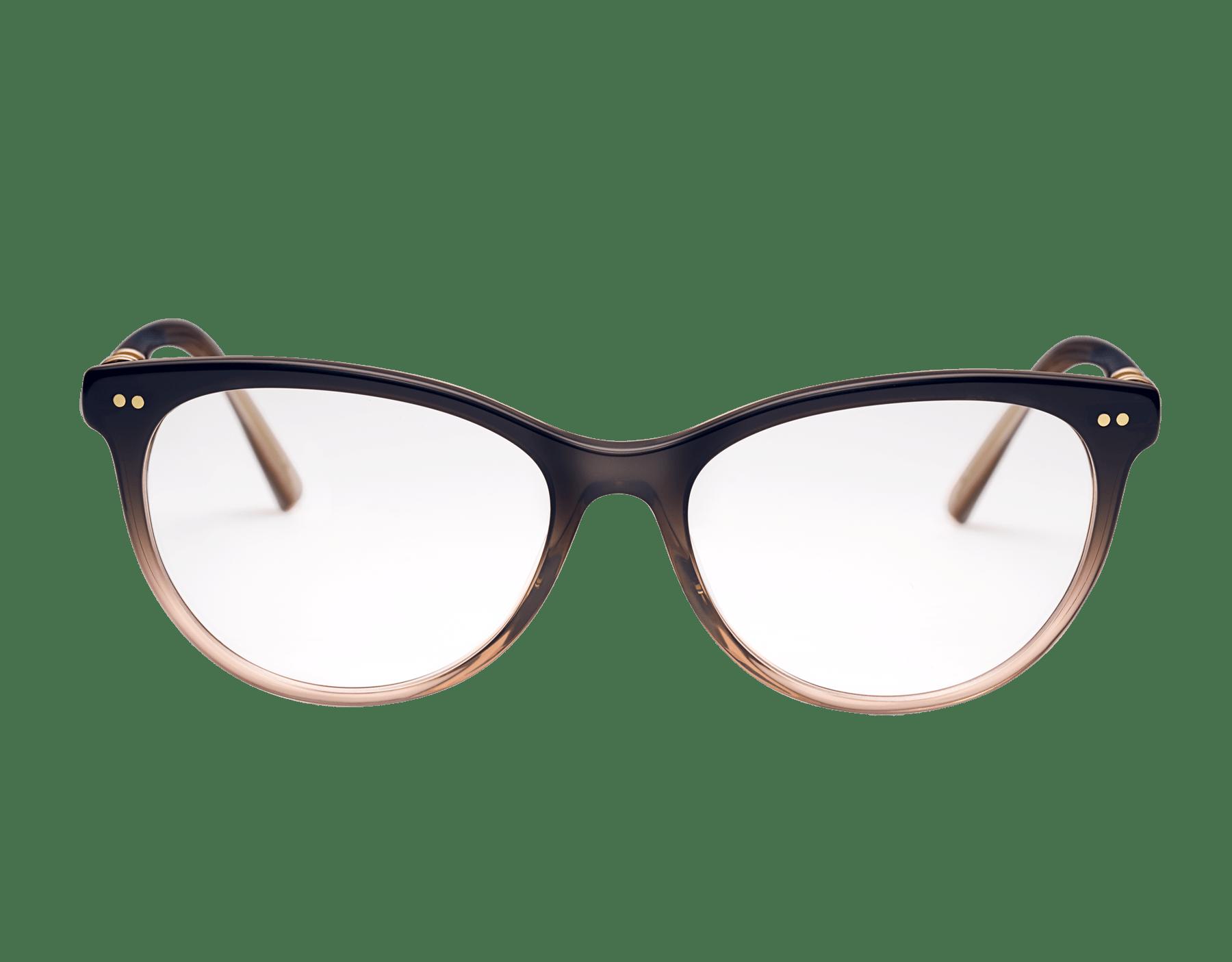 Bvlgari B.zero1 圓形貓眼醋酸纖維光學鏡架,飾以金屬元素。 903809 image 2