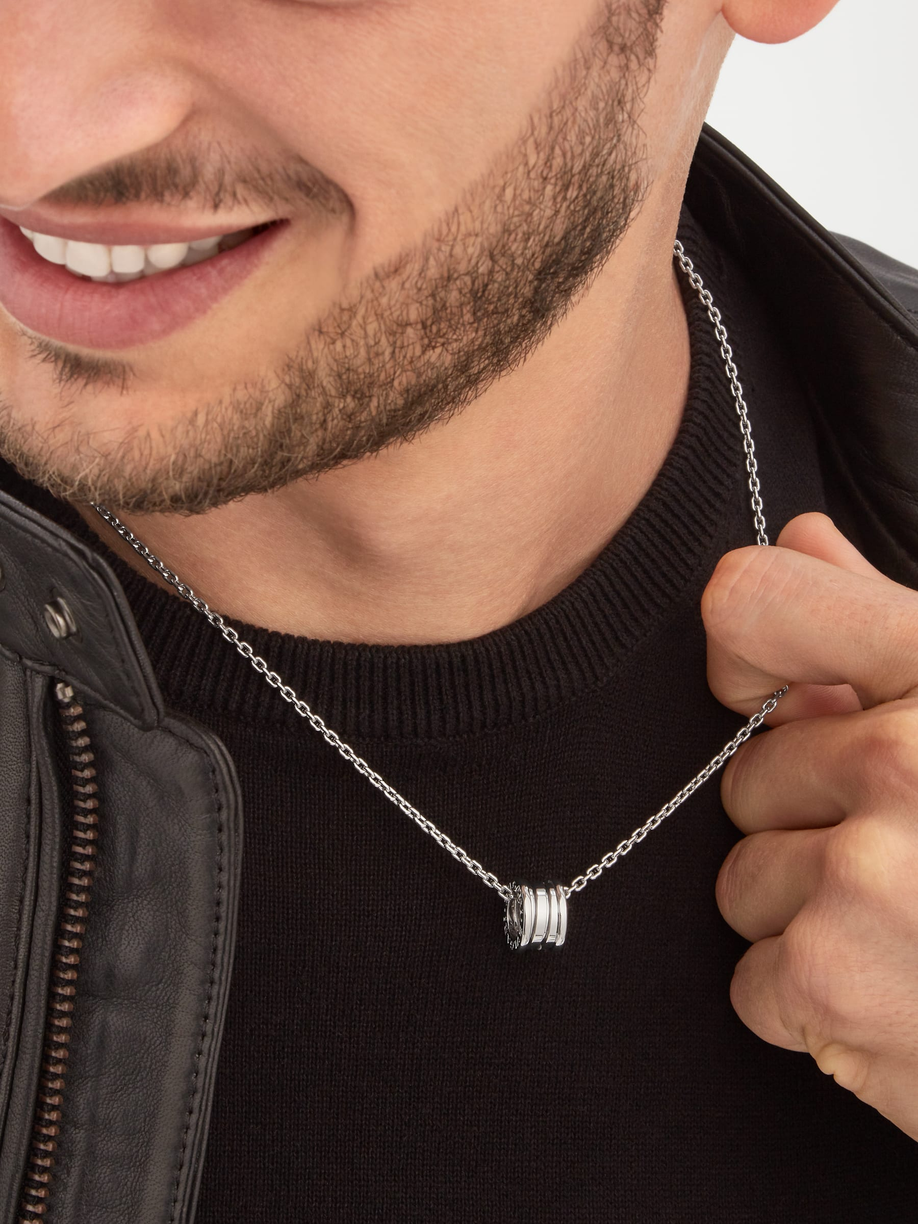 B.zero1 pendant necklace in 18 kt white gold 358347 image 6