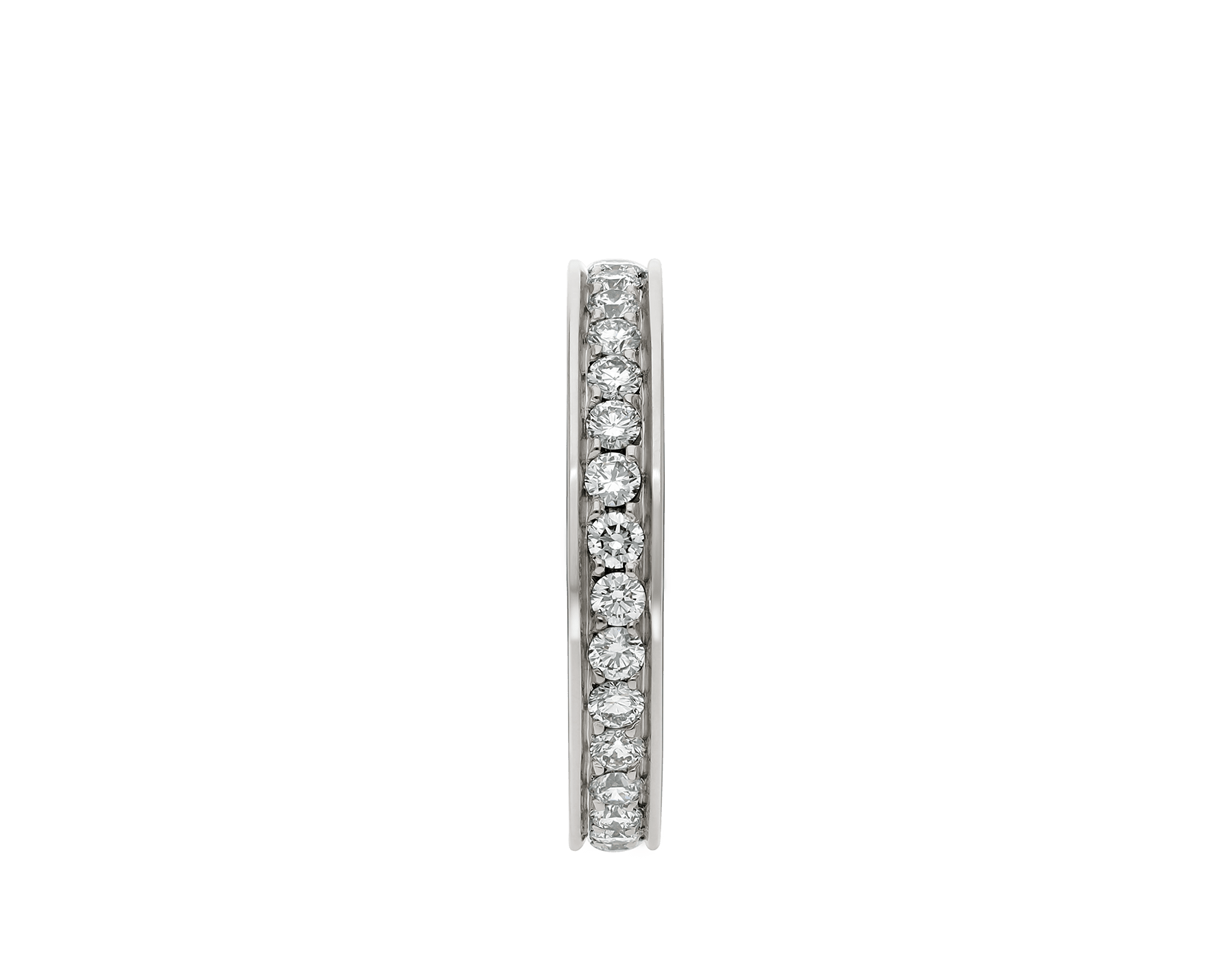 MarryMe platinum wedding band with full pavé diamonds AN852592 image 2
