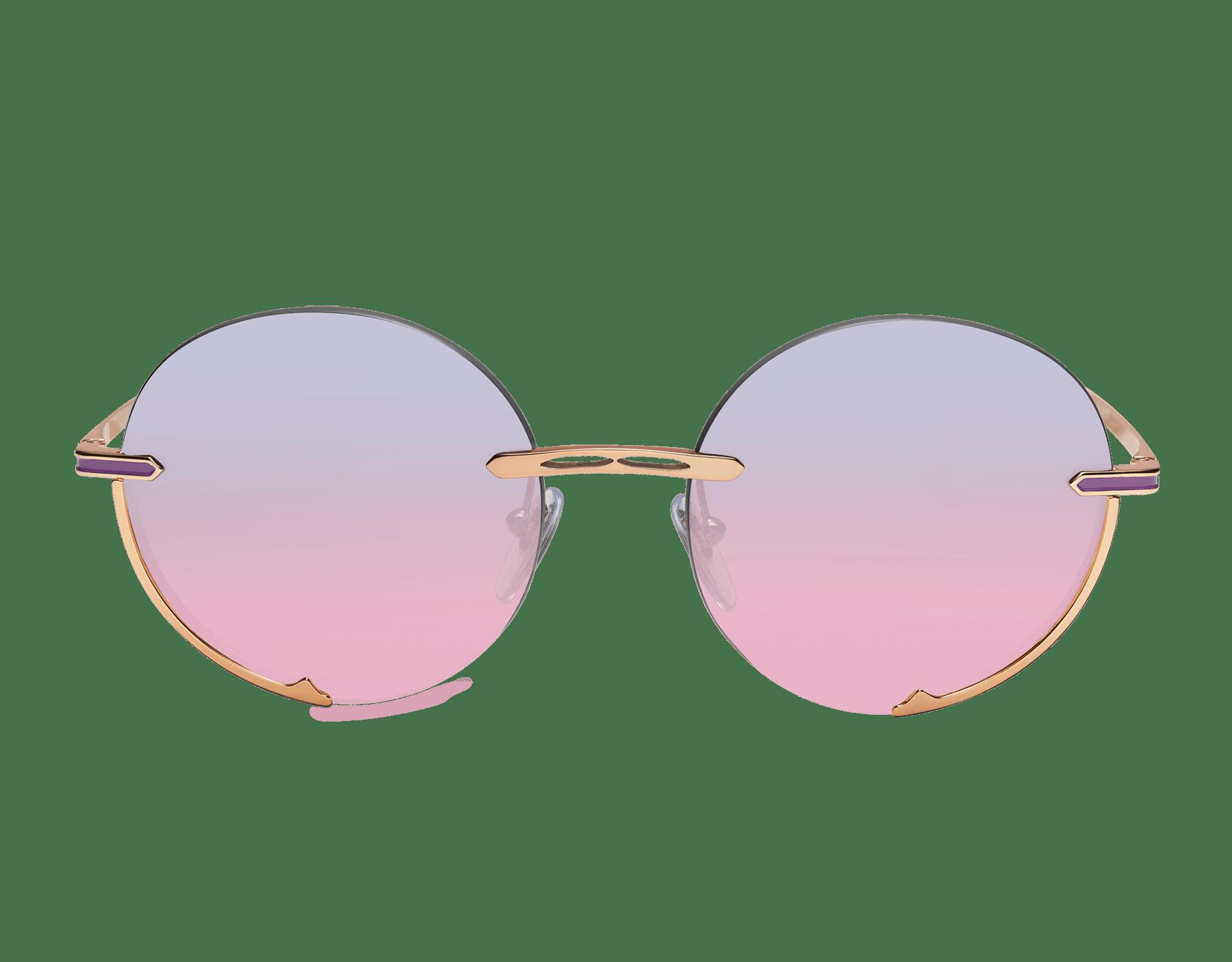 """نظارات شمسية بولغري بي.زيرو1 """"لوغو إيمبرايس"""" معدنية مستديرة. 904059 image 2"""