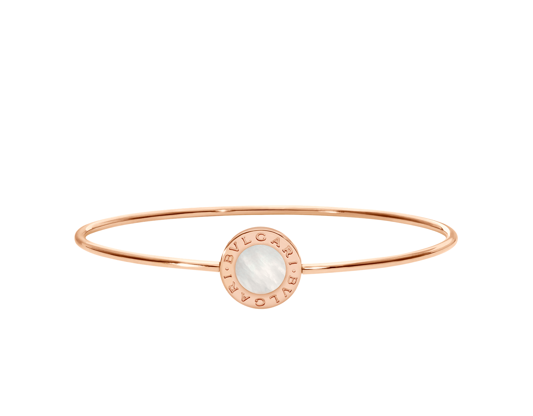 BVLGARI BVLGARI 18 kt rose gold bracelet set with mother-of-pearl element BR858624 image 2
