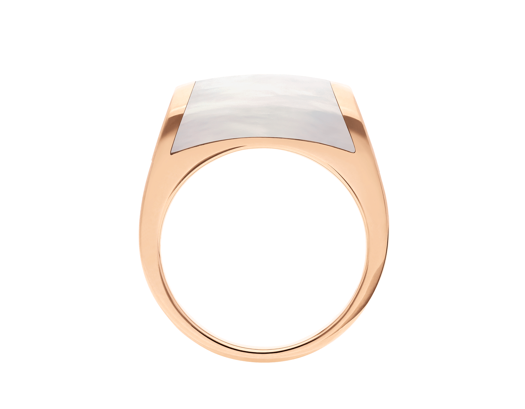 MVSA ring in 18 kt rose gold, set with a mother-of-pearl. AN857860 image 2