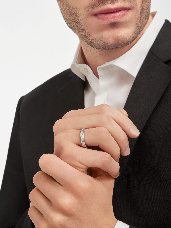 BVLGARI BVLGARI 18 kt white gold ring set with a diamond AN853348 image 4