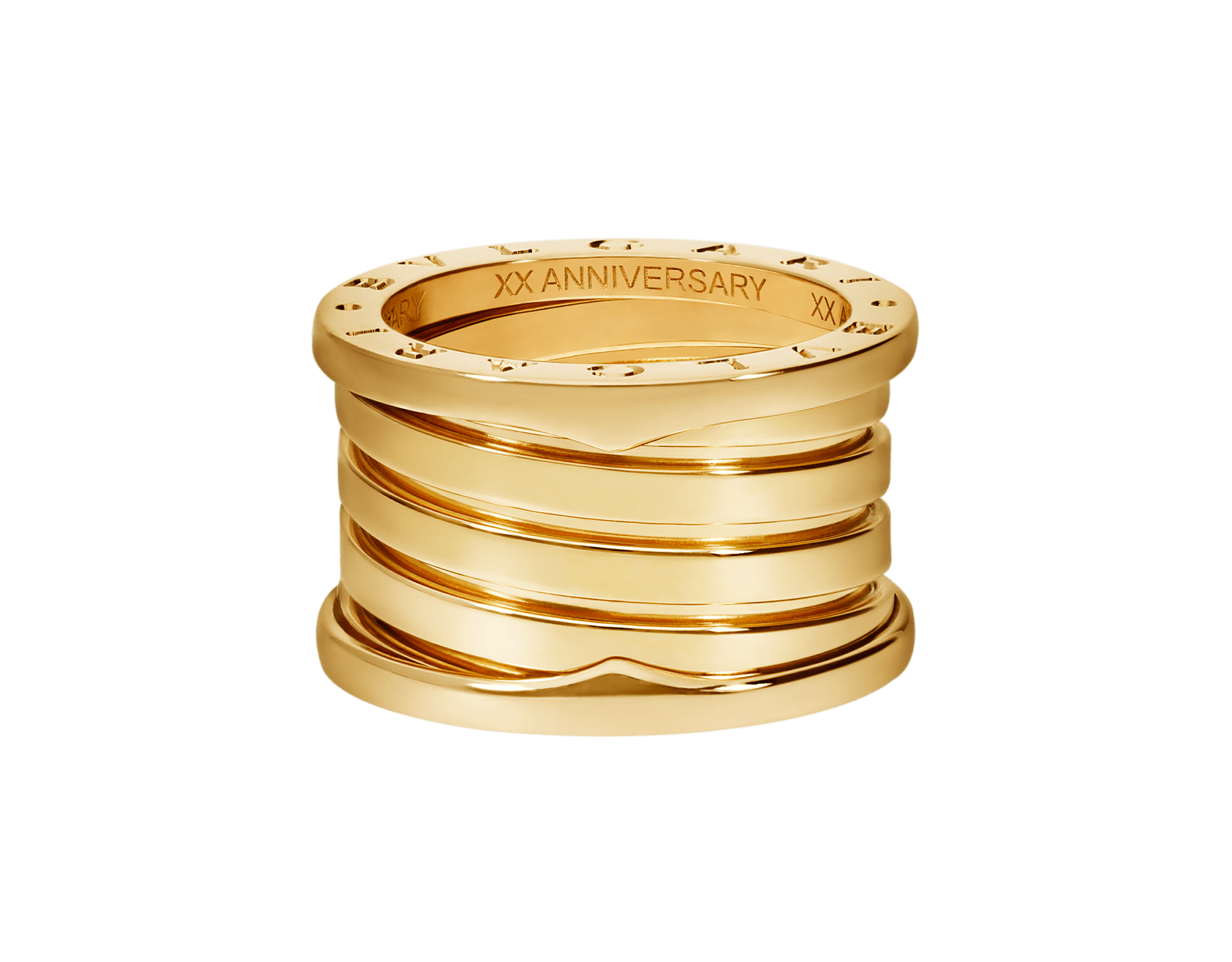 B.zero1 XXth Anniversary five-band ring in 18 kt yellow gold B-zero1-5-bands-AN858662 image 4