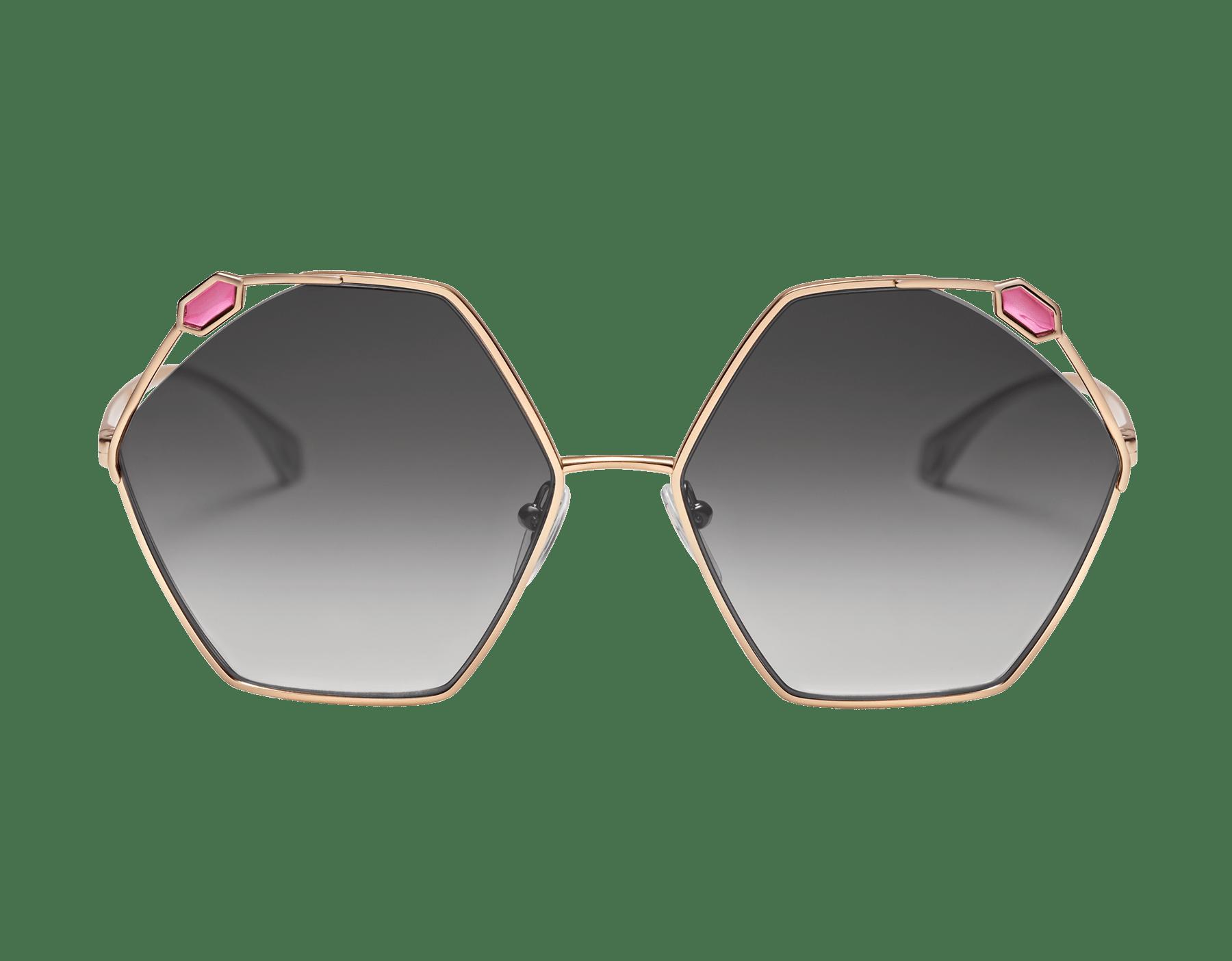 "Serpenti ""True Colors"" hexagonal metal sunglasses 904067 image 2"
