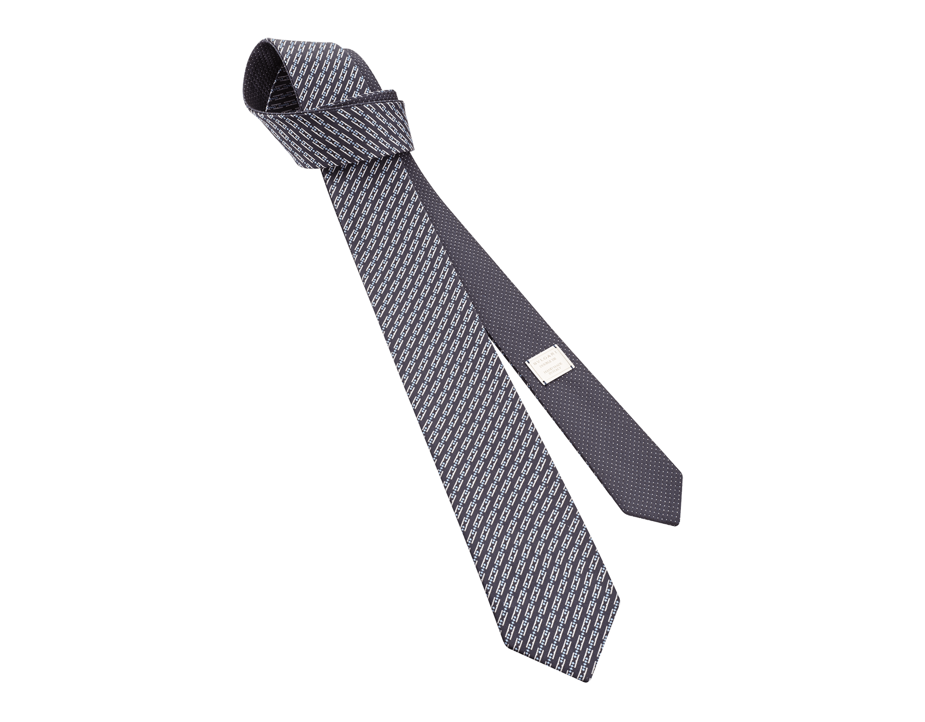 Rote doppelseitige Double BZero3D Krawatte aus feiner Seide. DOUBLEBZERO3D image 1