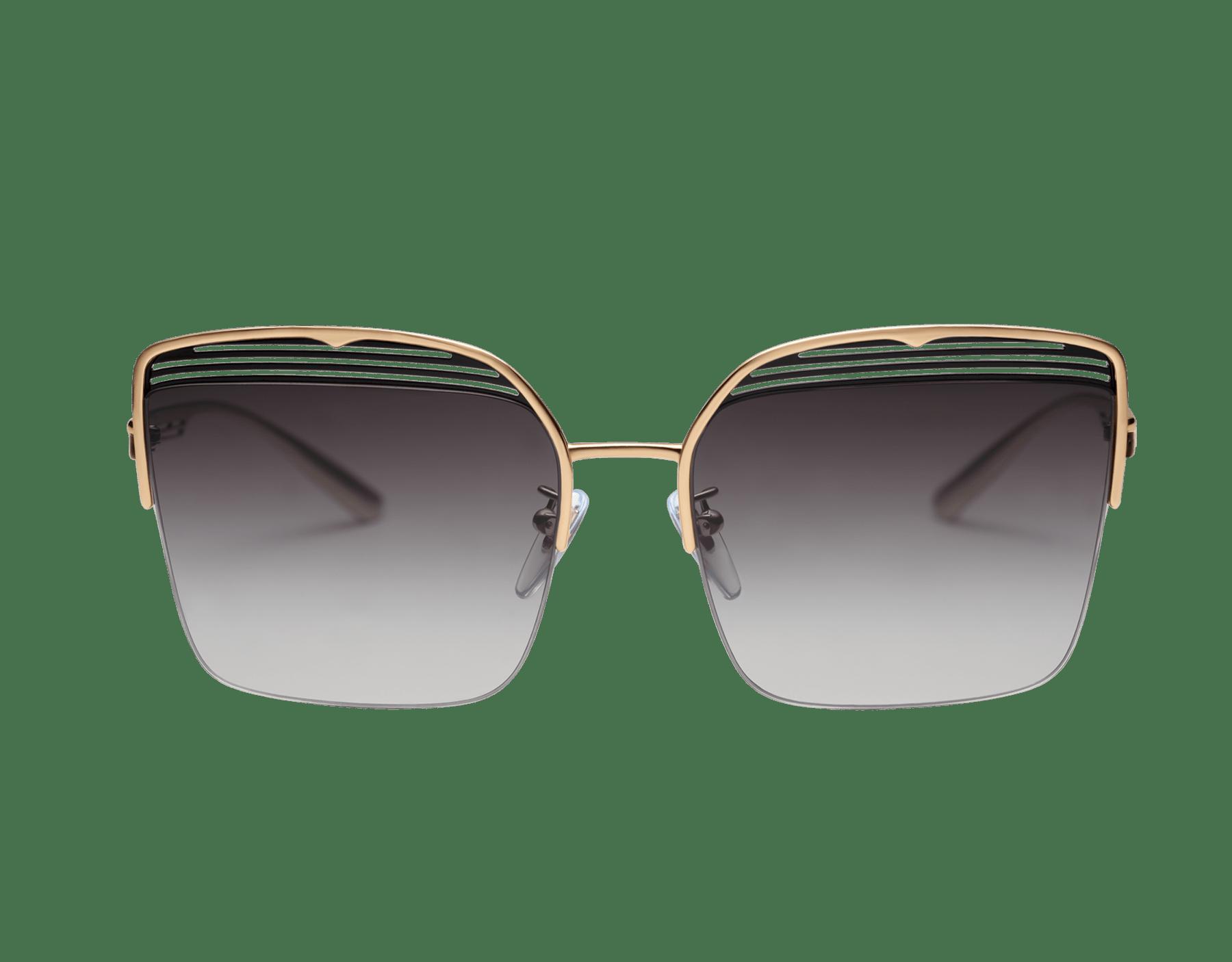 Gafas de sol Bvlgari B.zero1 B.overvibe cuadradas con semiarmazón en metal. 903810 image 2
