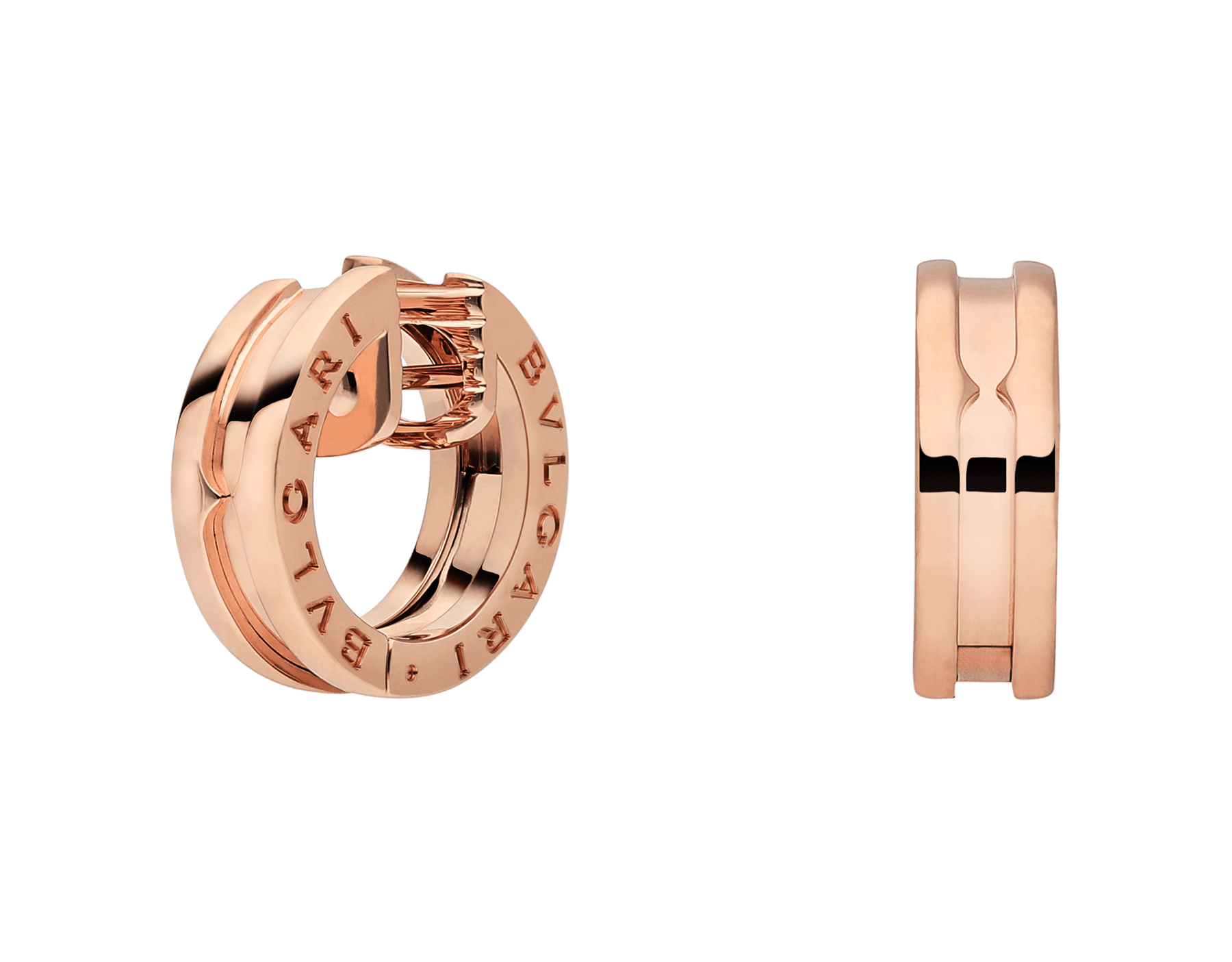 B.zero1 small earrings in 18 kt rose gold. 345506 image 1