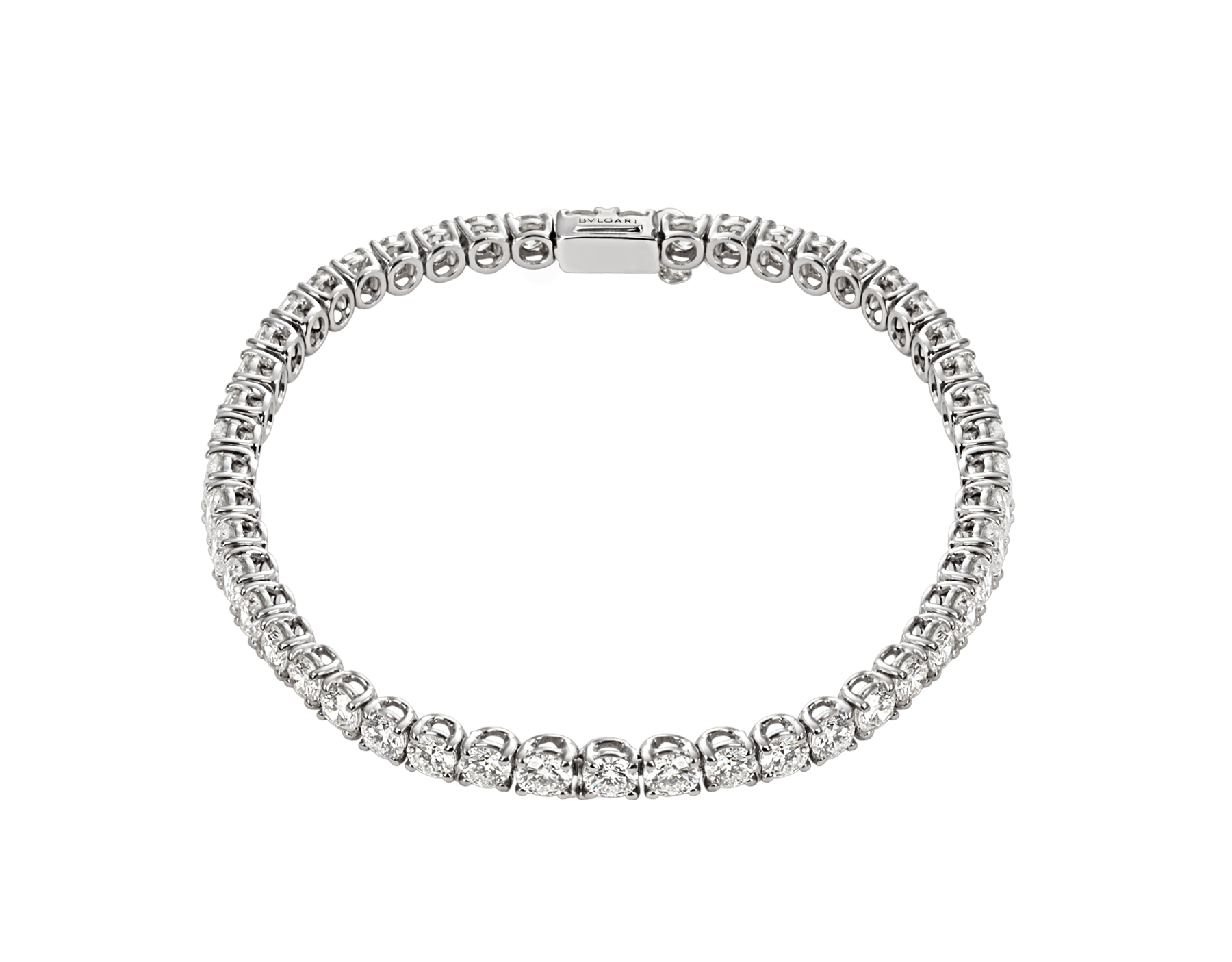 Griffe 18 kt white gold tennis bracelet with round brilliant cut diamonds BR852870 image 1