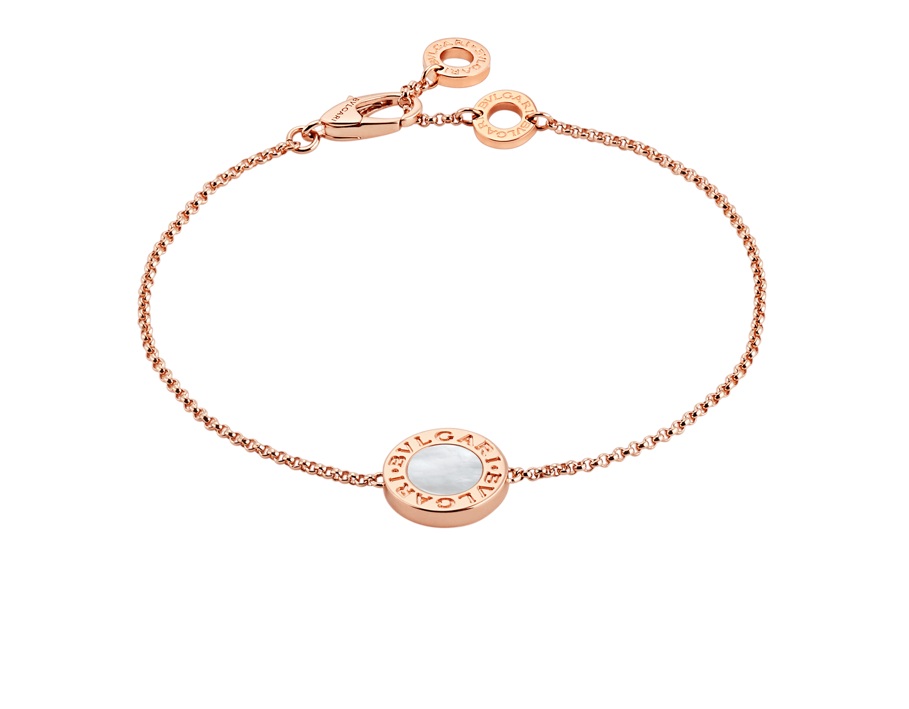 BVLGARI BVLGARI 18 kt rose gold bracelet set with mother-of-pearl elements BR857192 image 1