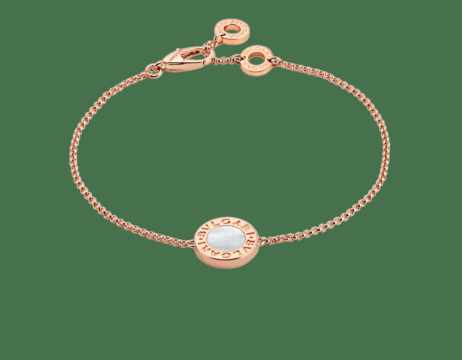 Pulseira BVLGARIBVLGARI em ouro rosa 18K cravejada com madrepérola BR857192 image 1