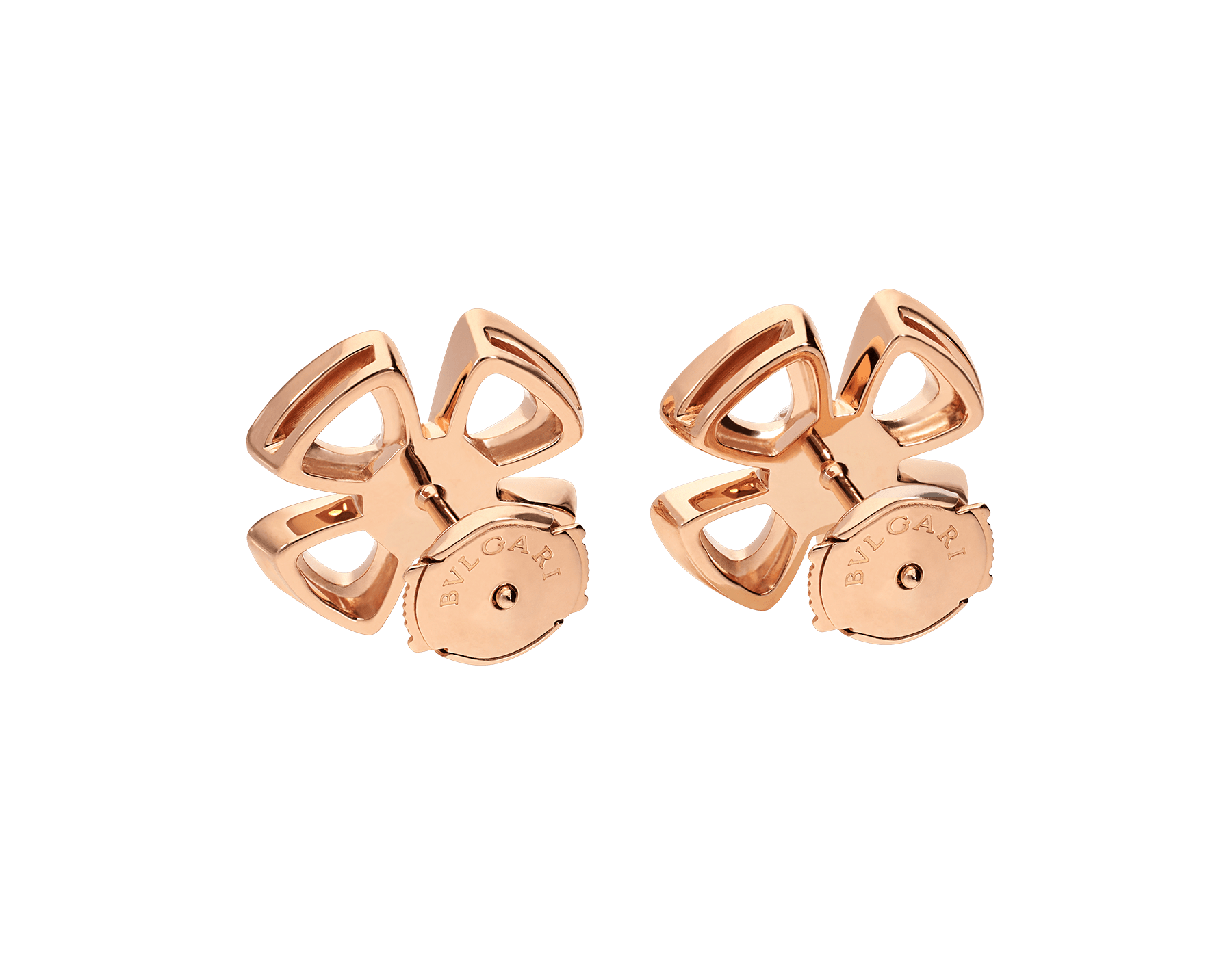 Fiorever 18 kt rose gold earrings set with two central diamonds (0.20 ct each) and pavé diamonds (0.33 ct) 355887 image 3
