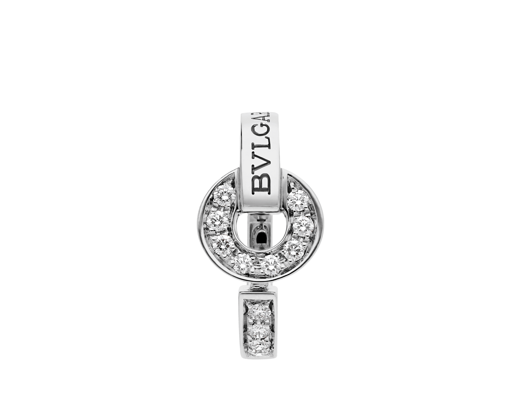 BVLGARI BVLGARI 18 kt white gold ring set with pavé diamonds AN854619 image 2