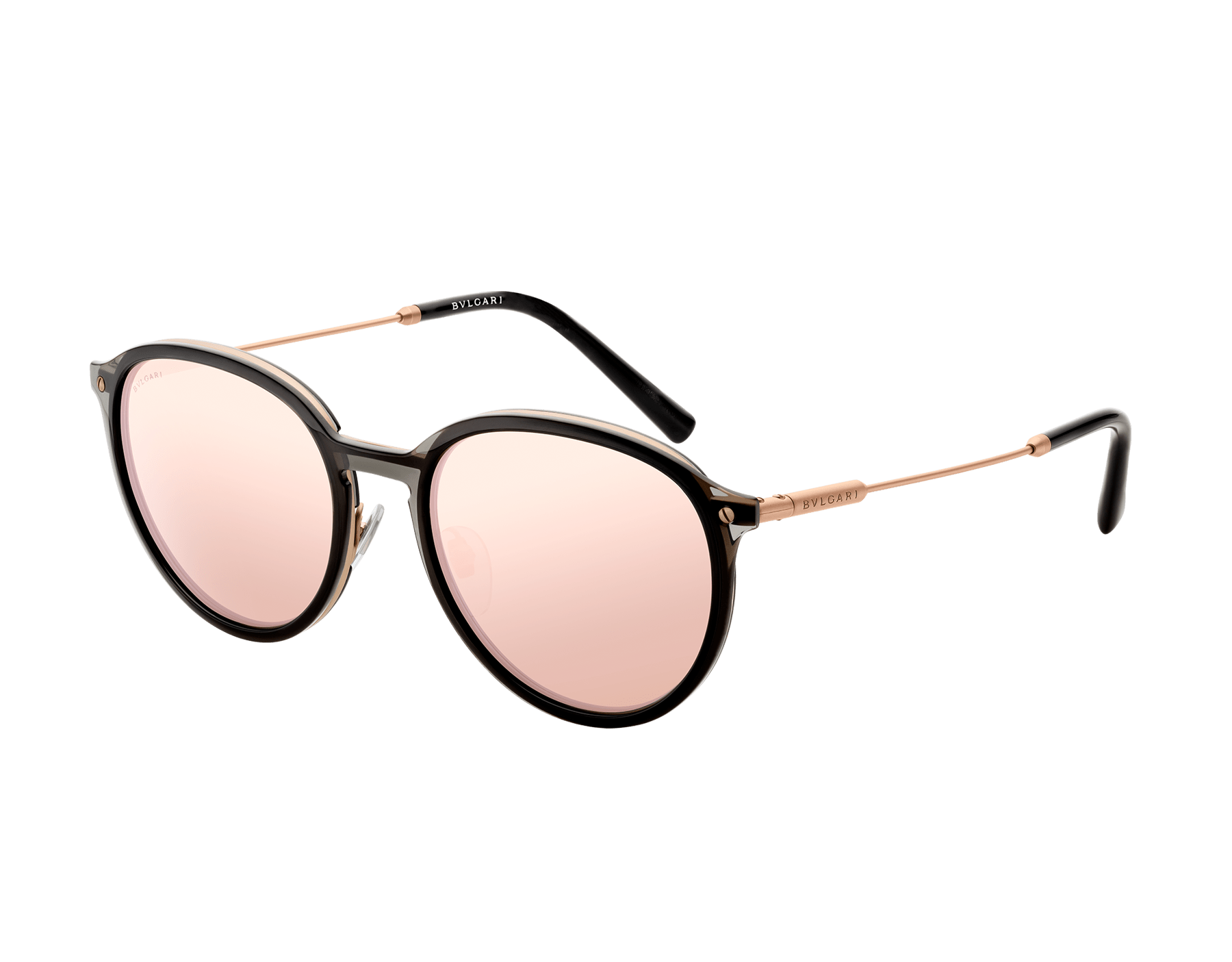 Óculos de sol Diagono com formato redondo em metal. 903556 image 1