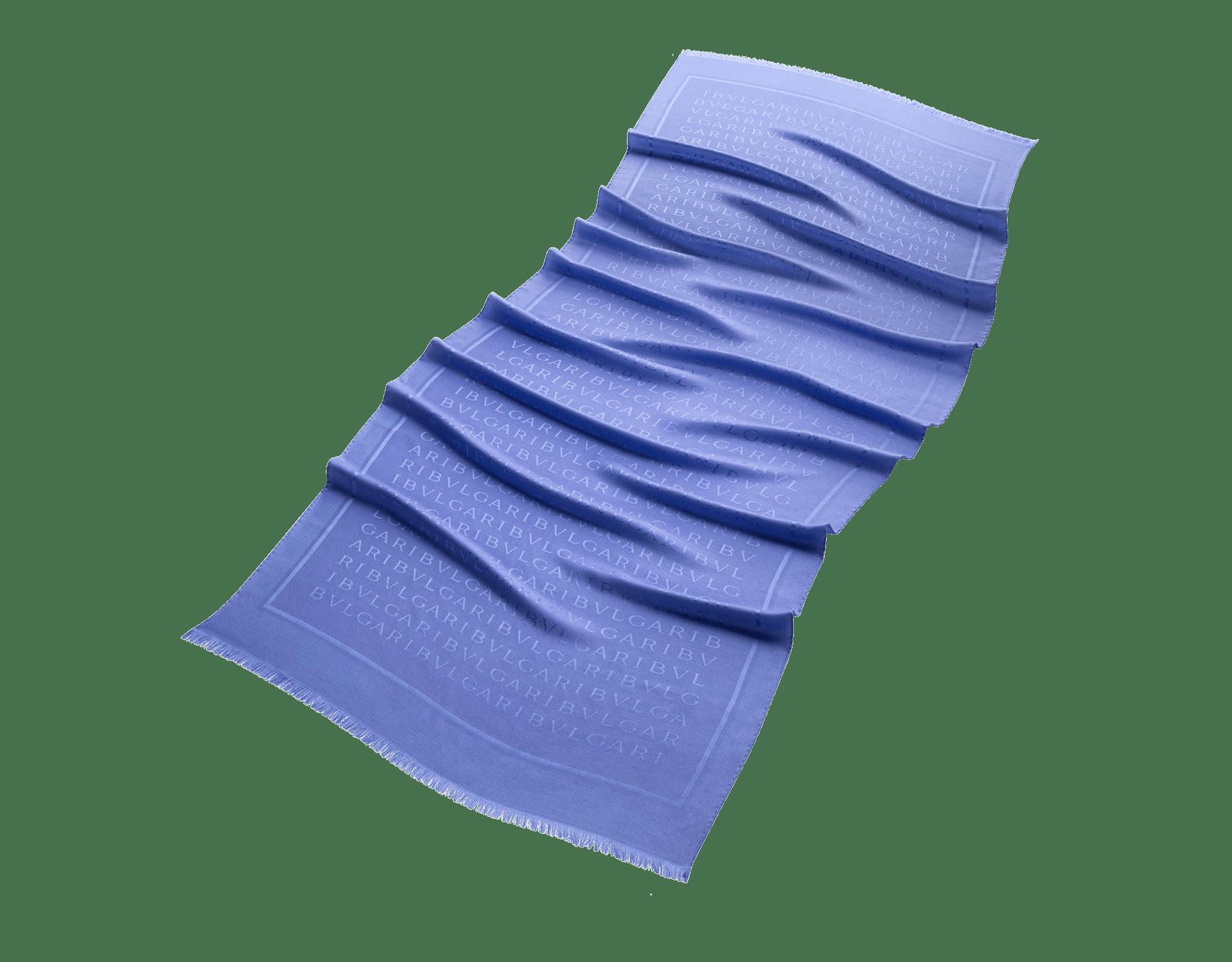 Étole Lettere Maxi en laine et soie fine couleur lilas Lavender Amethyst. 244607 image 1