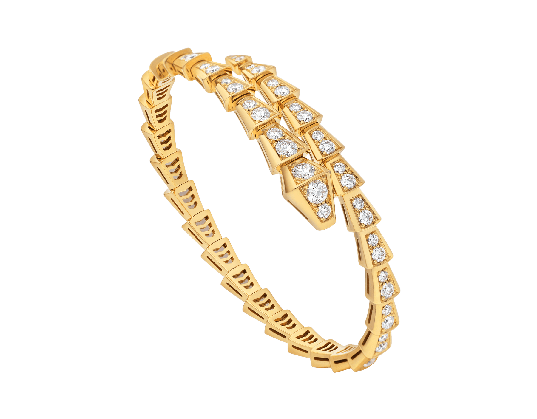 Serpenti Viper 18 kt yellow gold bracelet with pavé diamonds BR858983 image 1