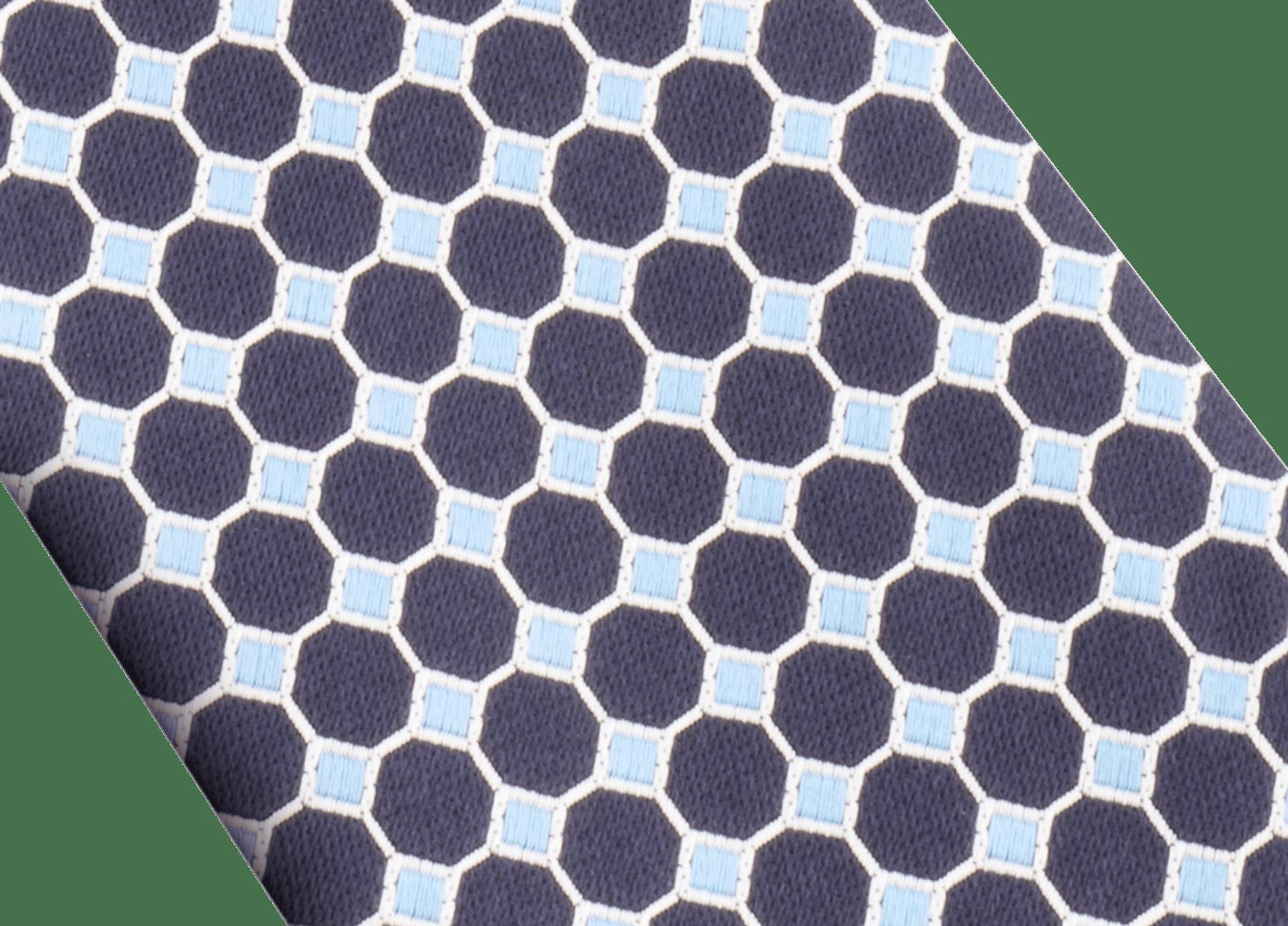 「Double Logo Octo」柄があしらわれたネイビーのタイ。上質なシルク製。 244140 image 2