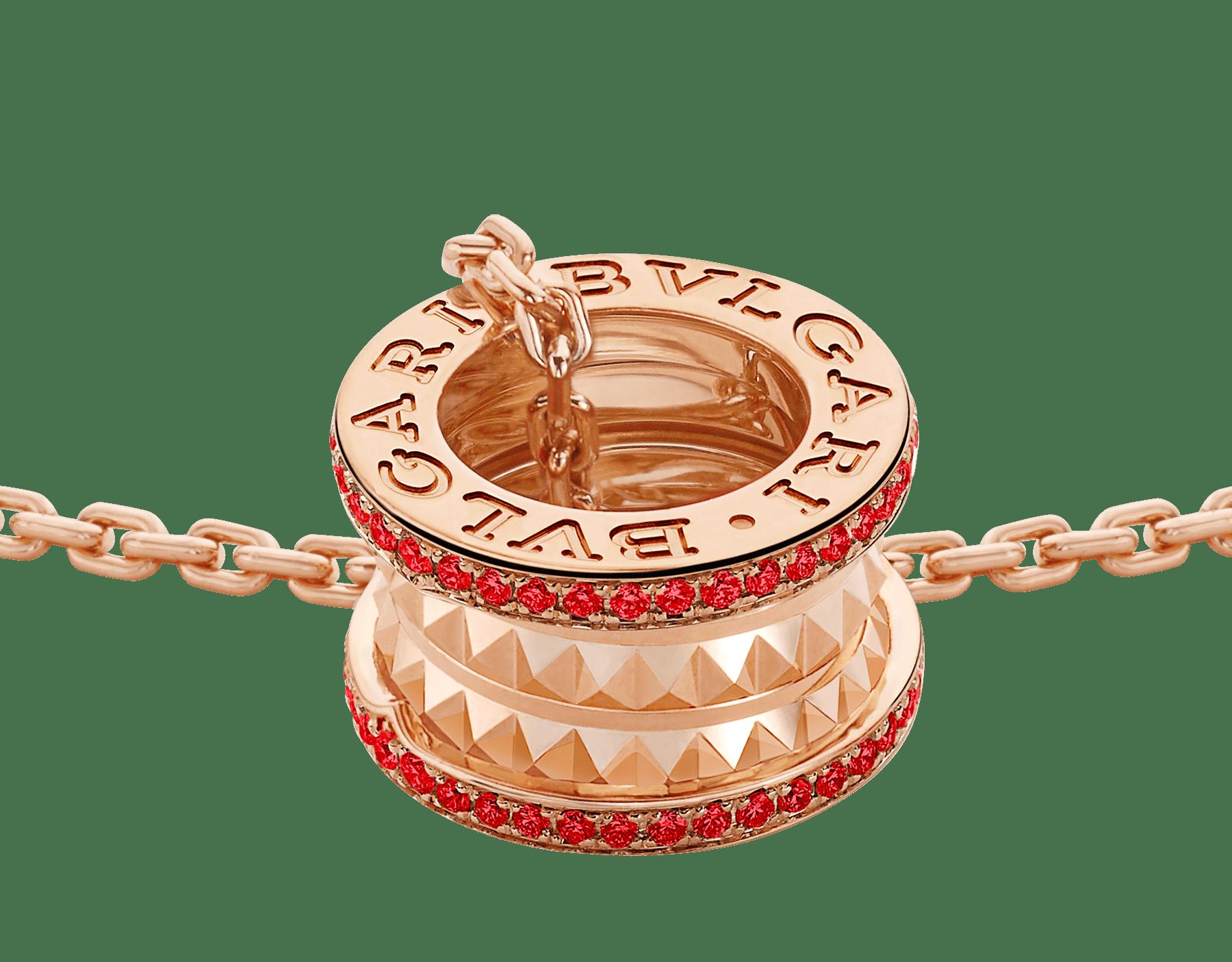 BVLGARI BVLGARI 18K 玫瑰金翻轉式戒指,鑲飾翡翠和密鑲鑽石。 358306 image 3