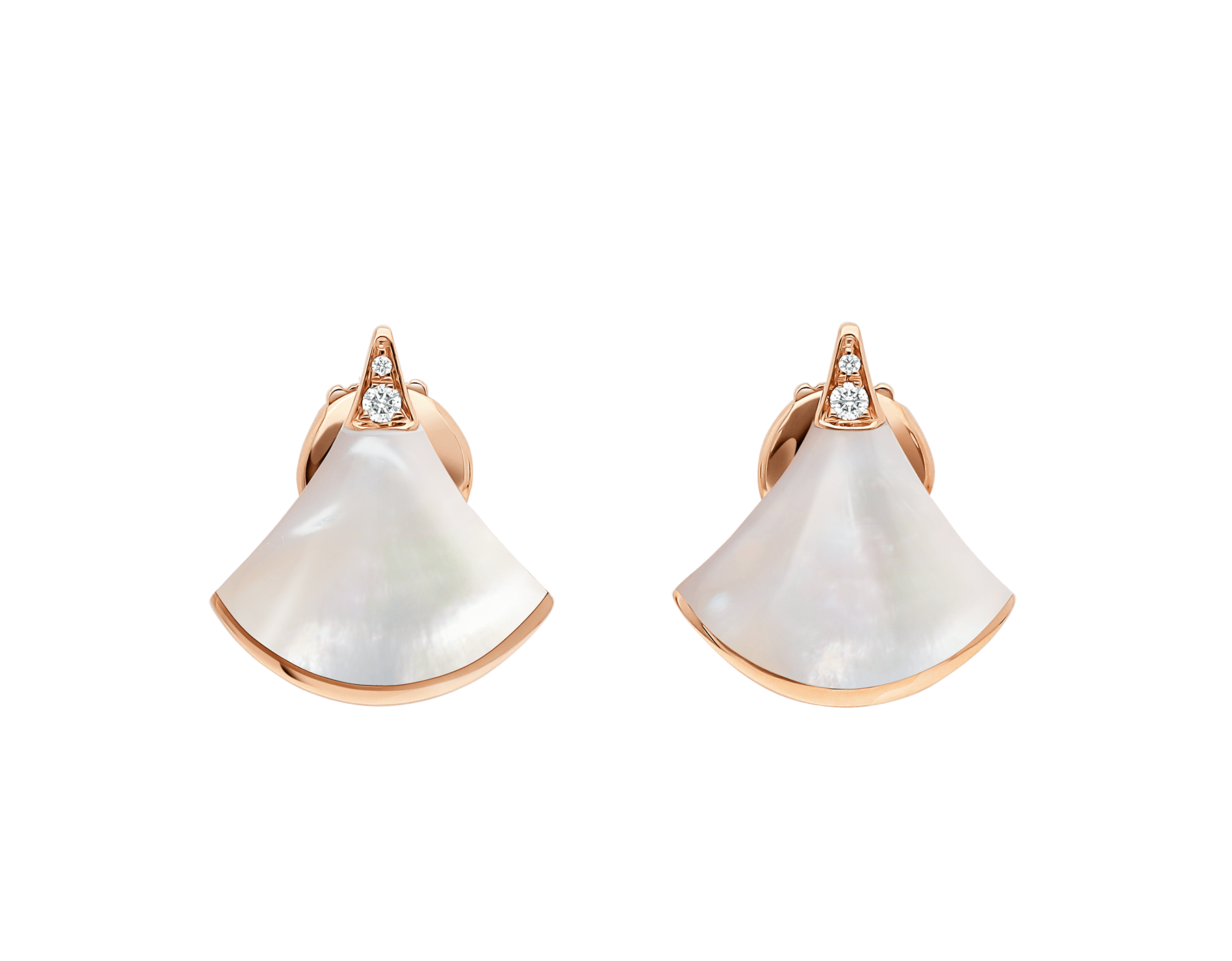 DIVAS' DREAM earrings in 18 kt rose gold, set with mother-of-pearl and pavé diamonds. 352600 image 1