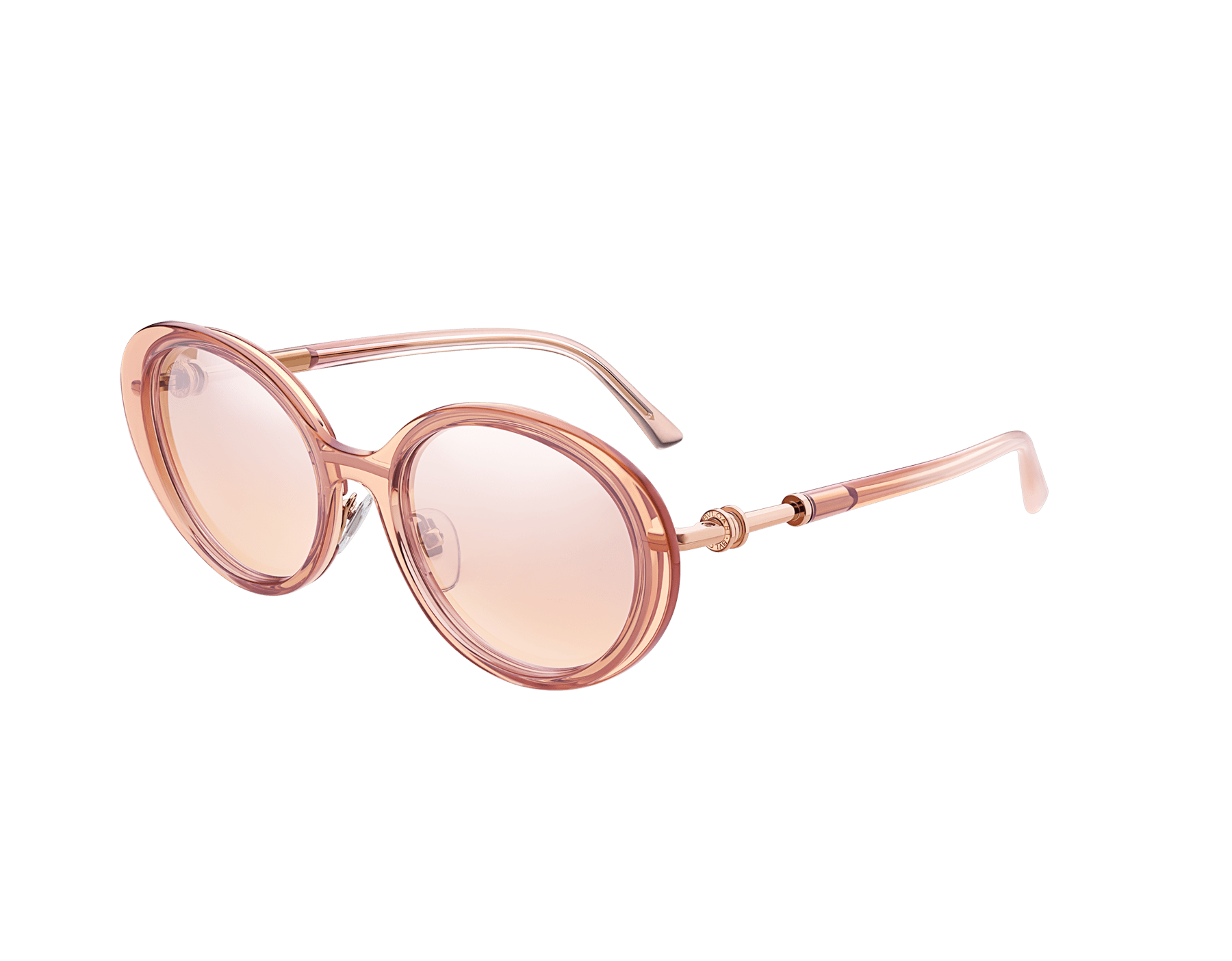 B.zero1 oval metal and acetate sunglasses with B.zero1 ring metal décor. 903778 image 1
