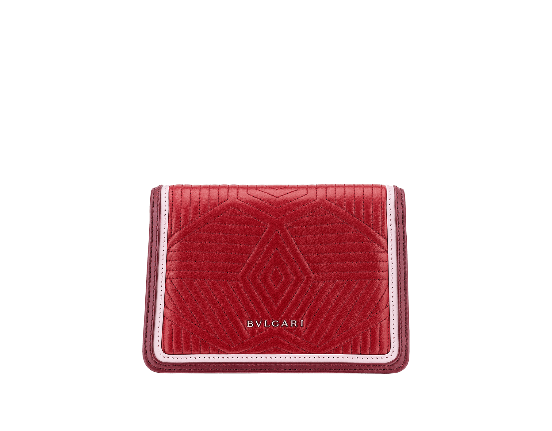 """""""Serpenti Diamond Blast"""" crossbody micro bag in ruby red quilted nappa leather body and Roman garnet calf leather frames. Iconic snakehead closure in light gold plated brass enriched with black and rosa di francia enamel and black onyx eyes. 288845 image 3"""