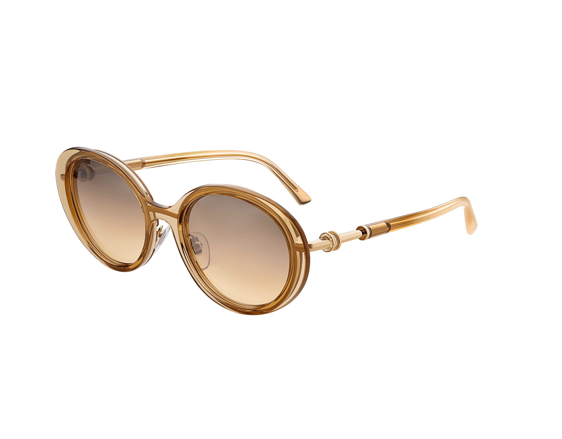 B.zero1 oval metal and acetate sunglasses with B.zero1 ring metal décor. 903779 image 1