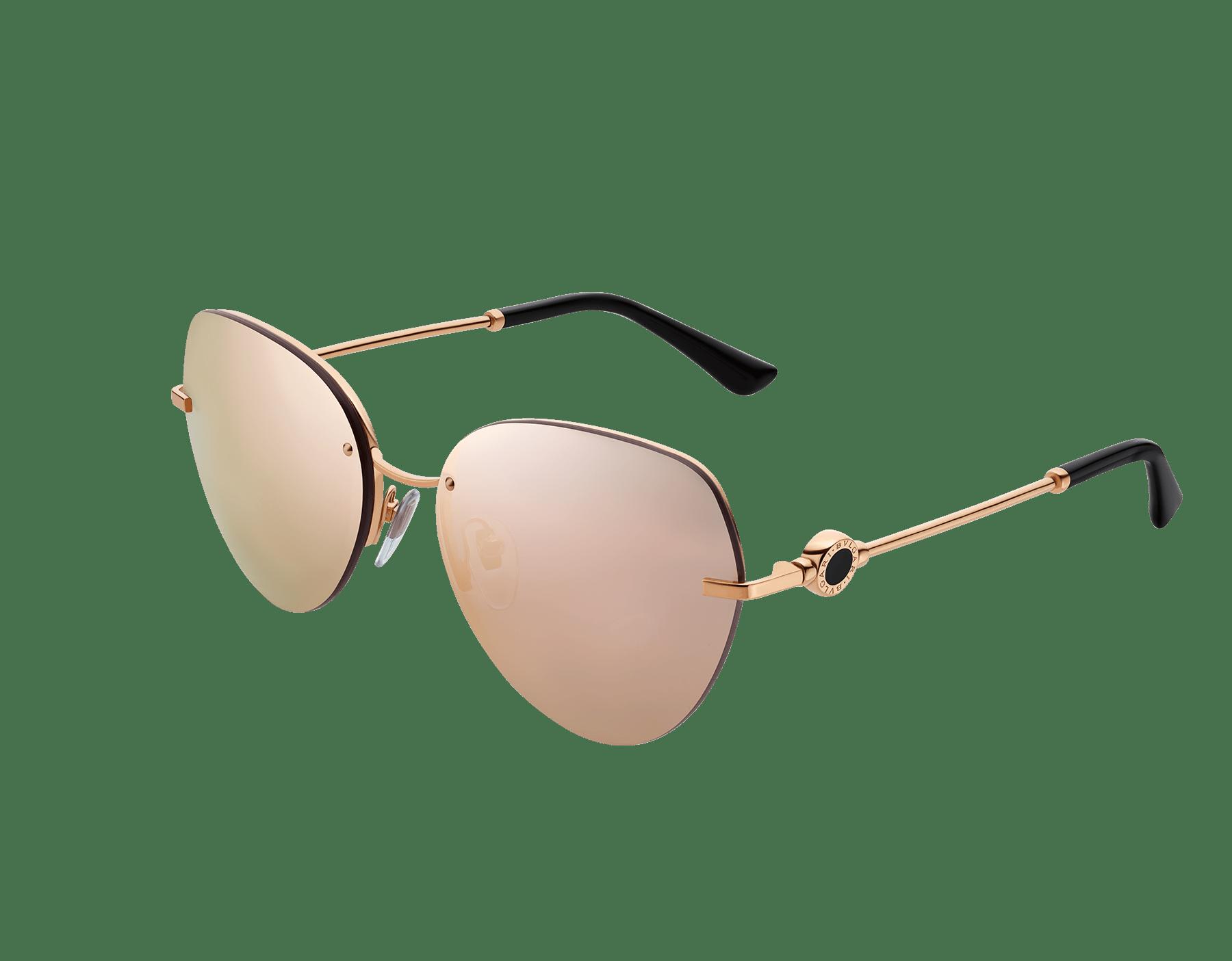 BVLGARI BVLGARI semi-rimless aviator sunglasses. 903540 image 1