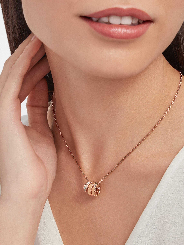 Pendentif Serpenti Viper en or rose 18K avec semi-pavé diamants 357794 image 2