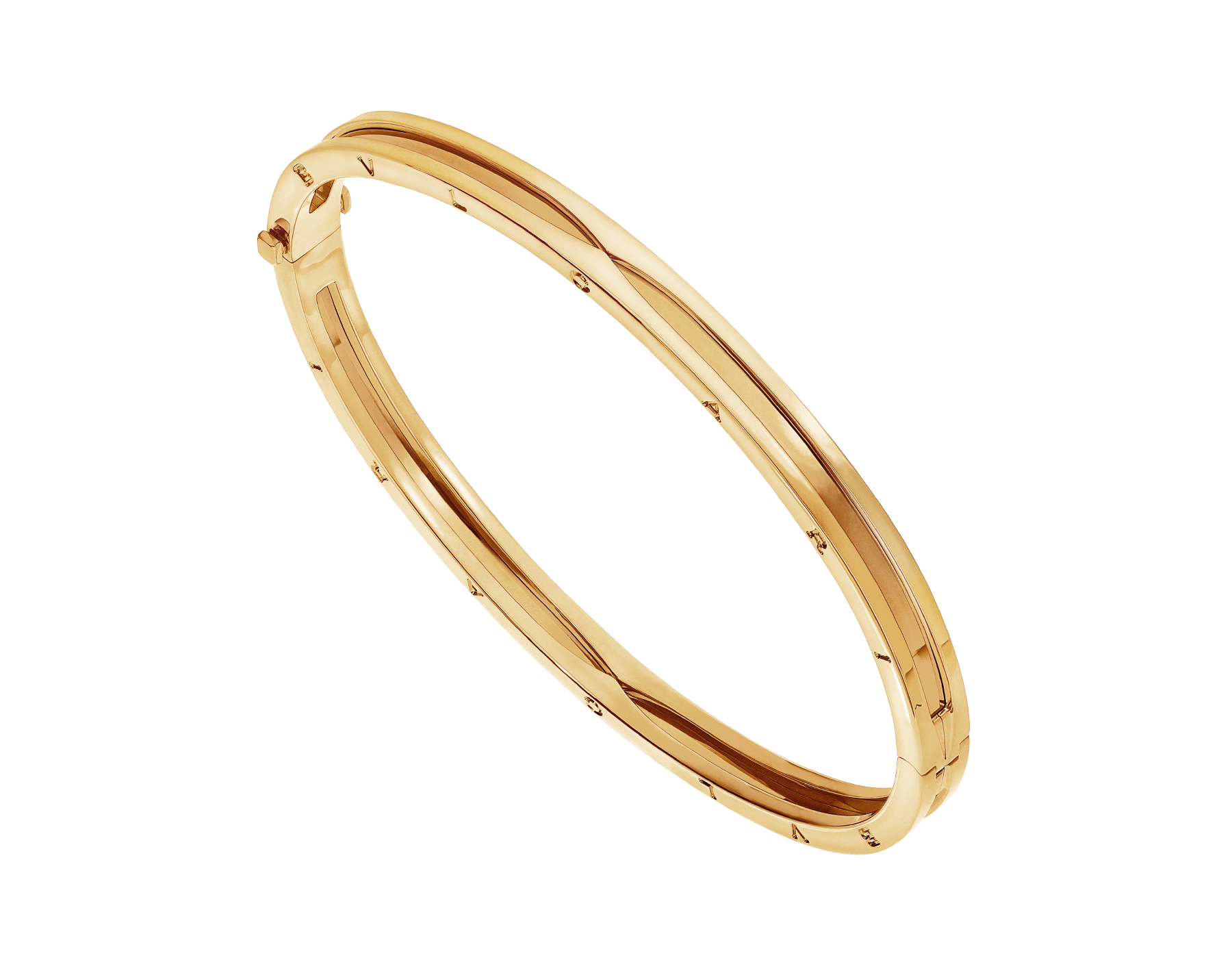 B.zero1 18 kt yellow gold bangle bracelet BR858726 image 1