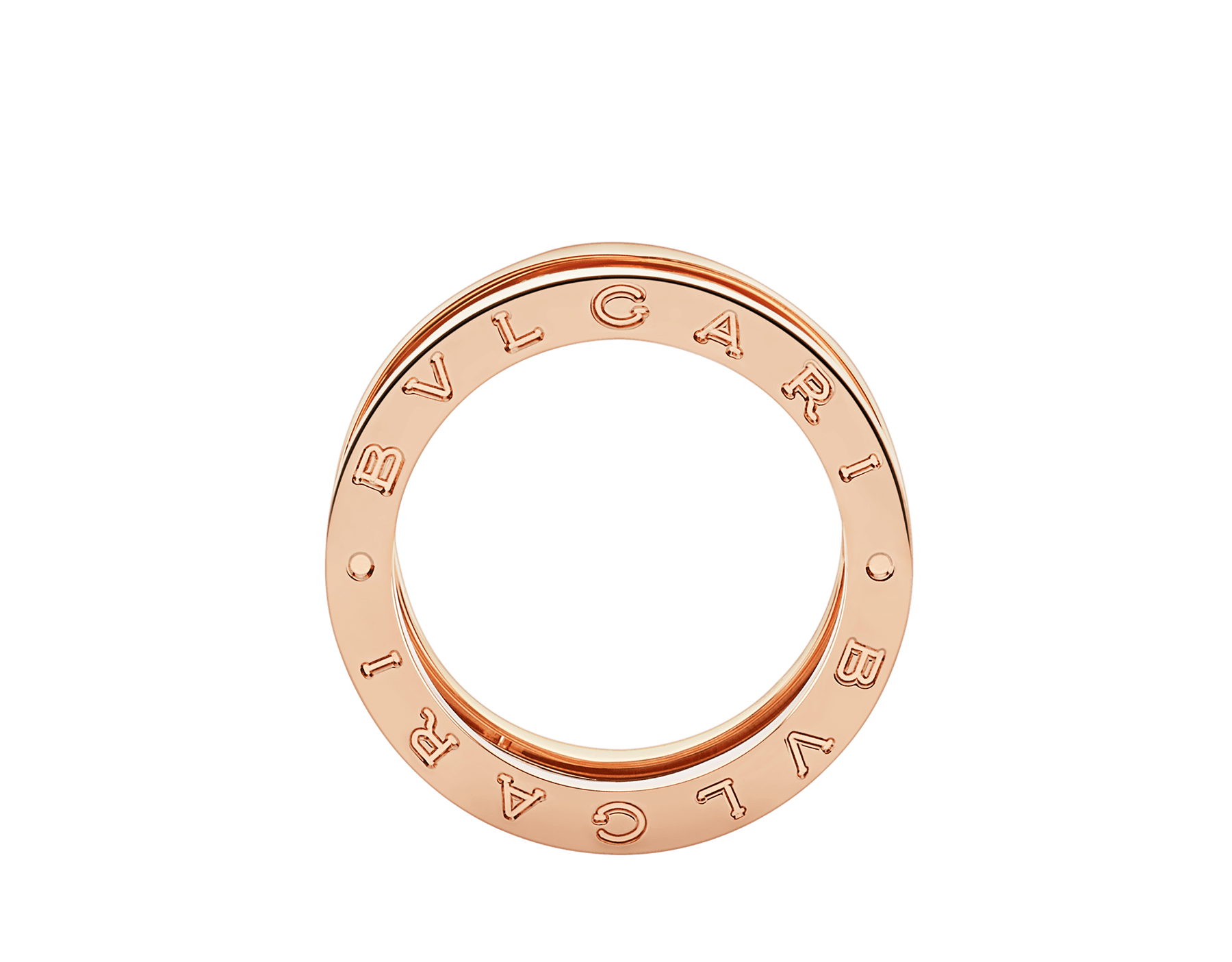 B.zero1 Design Legend three-band ring in 18 kt rose gold. B-zero1-3-bands-AN858029 image 2