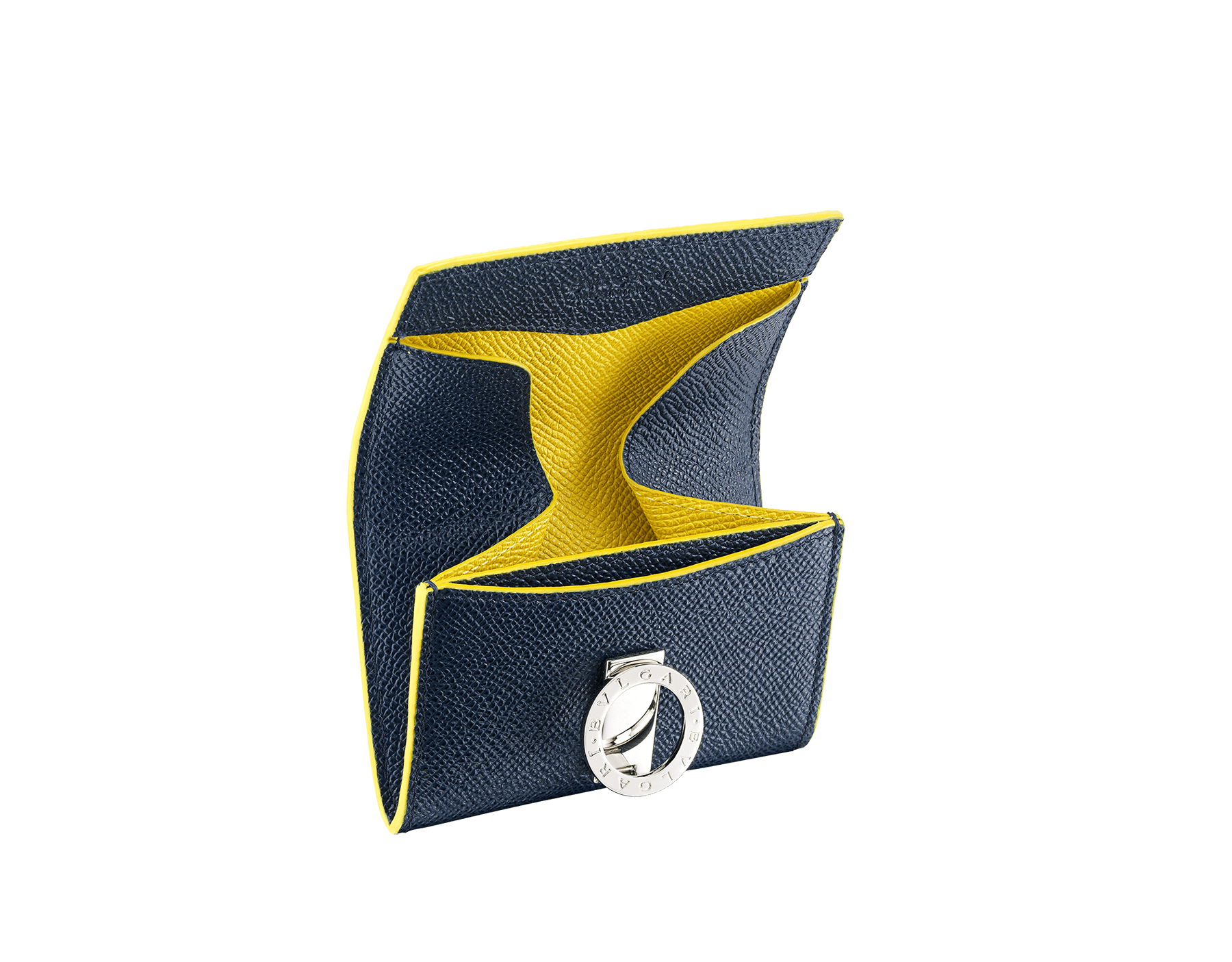 BVLGARI BVLGARI 零錢包,採用綠玉色和火珀色珠面小牛皮。經典鍍釕黃銅品牌標誌扣環。 BCM-WLT-S-RECTb image 2