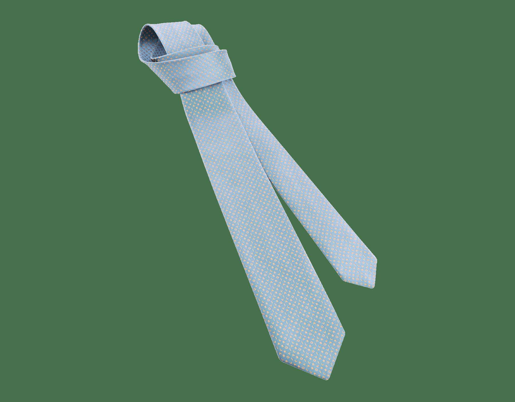 "Yellow ""Bvlgari ShineBeth"" seven-folds tie in fine jacquard silk. BulgariShineBeth image 1"