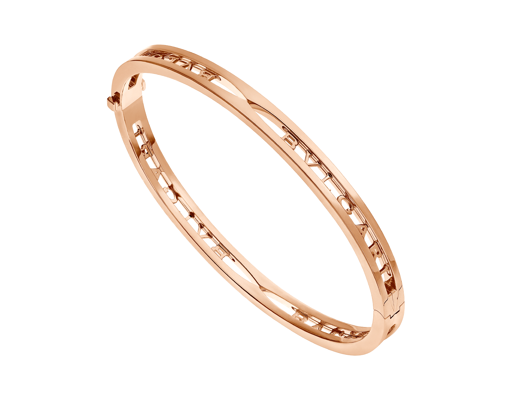 B.zero1 18 kt rose gold bangle bracelet with BVLGARI logo on the spiral BR858669 image 1