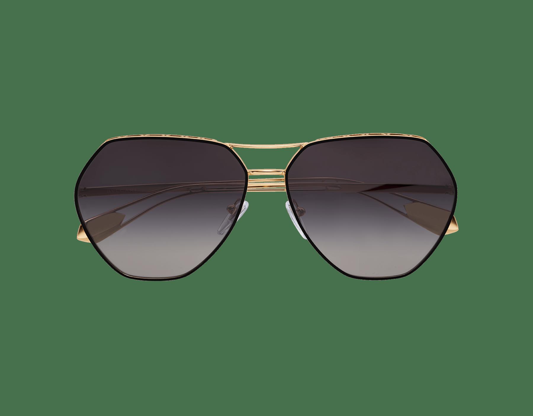 Óculos de sol Serpenti Freedomation em formato aviador extragrande com lentes angulares planas. 903405 image 2